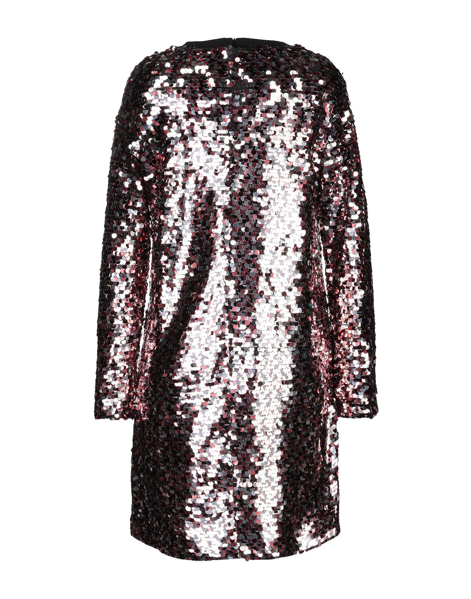 Robe courte Tulle McQ en coloris Métallisé