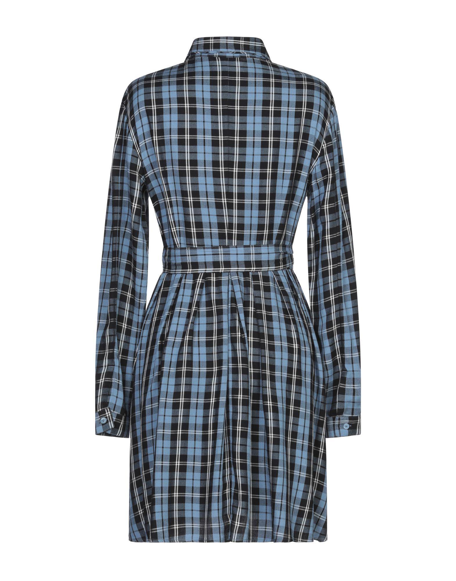 Robe courte Flannelle MAX&Co. en coloris Bleu