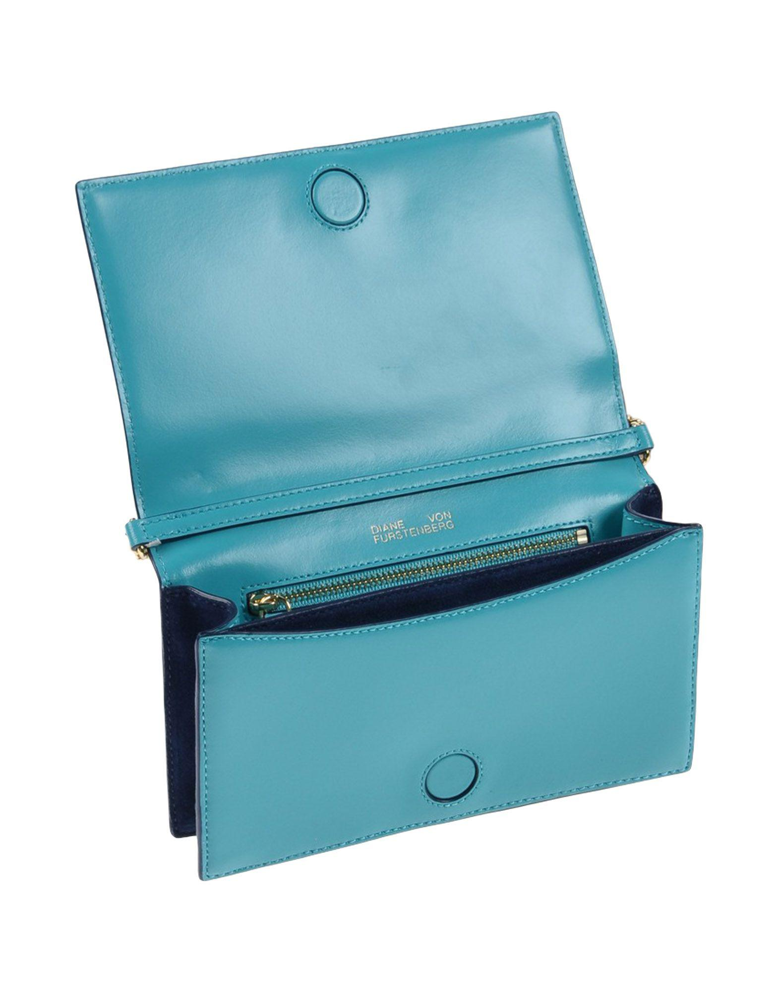 Diane von Furstenberg Leather Cross-body Bag in Turquoise (Blue)