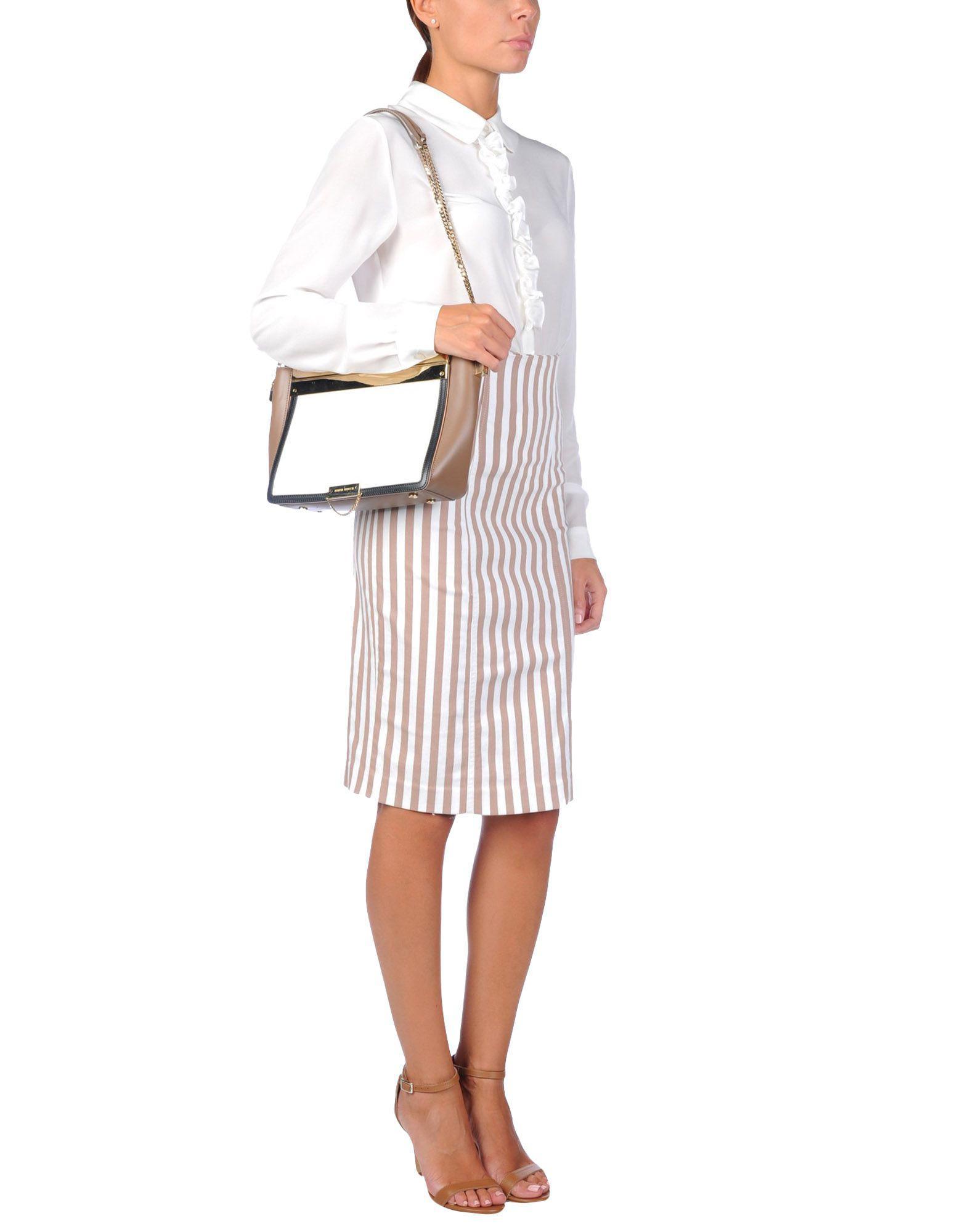 Alberta Ferretti Leather Cross-body Bag in Ivory (White)
