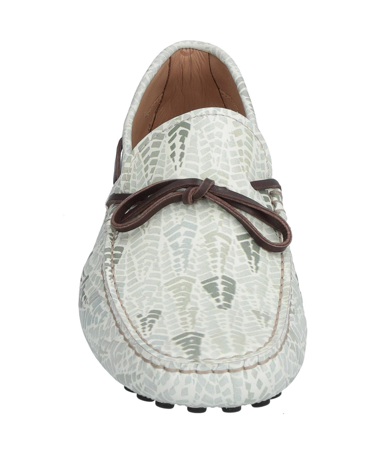 Tod's Leather Loafer in Ivory (White) for Men