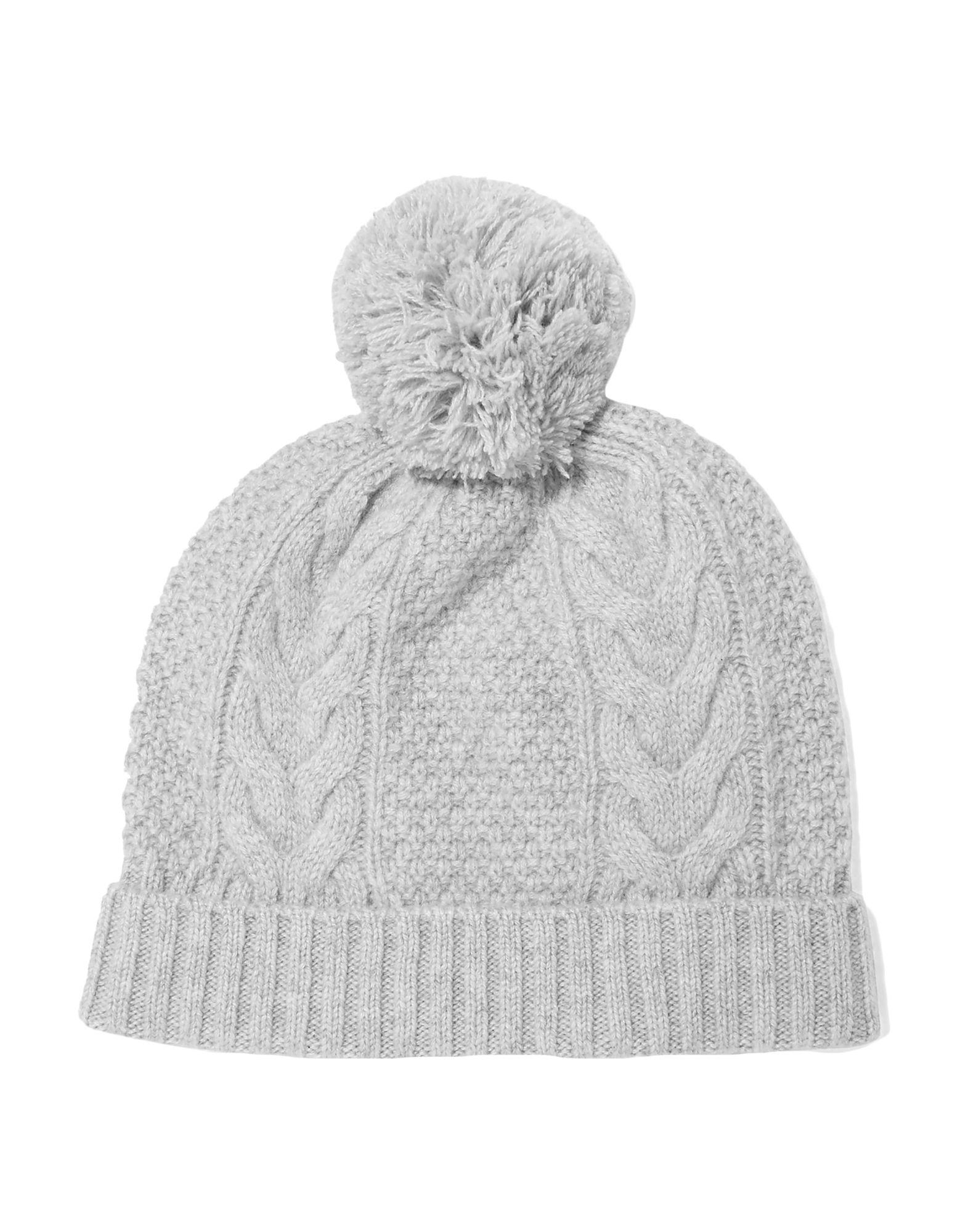 d948e66441a N.Peal Cashmere. Women s Gray Pom Pom-detailed Cable-knit Cashmere Beanie