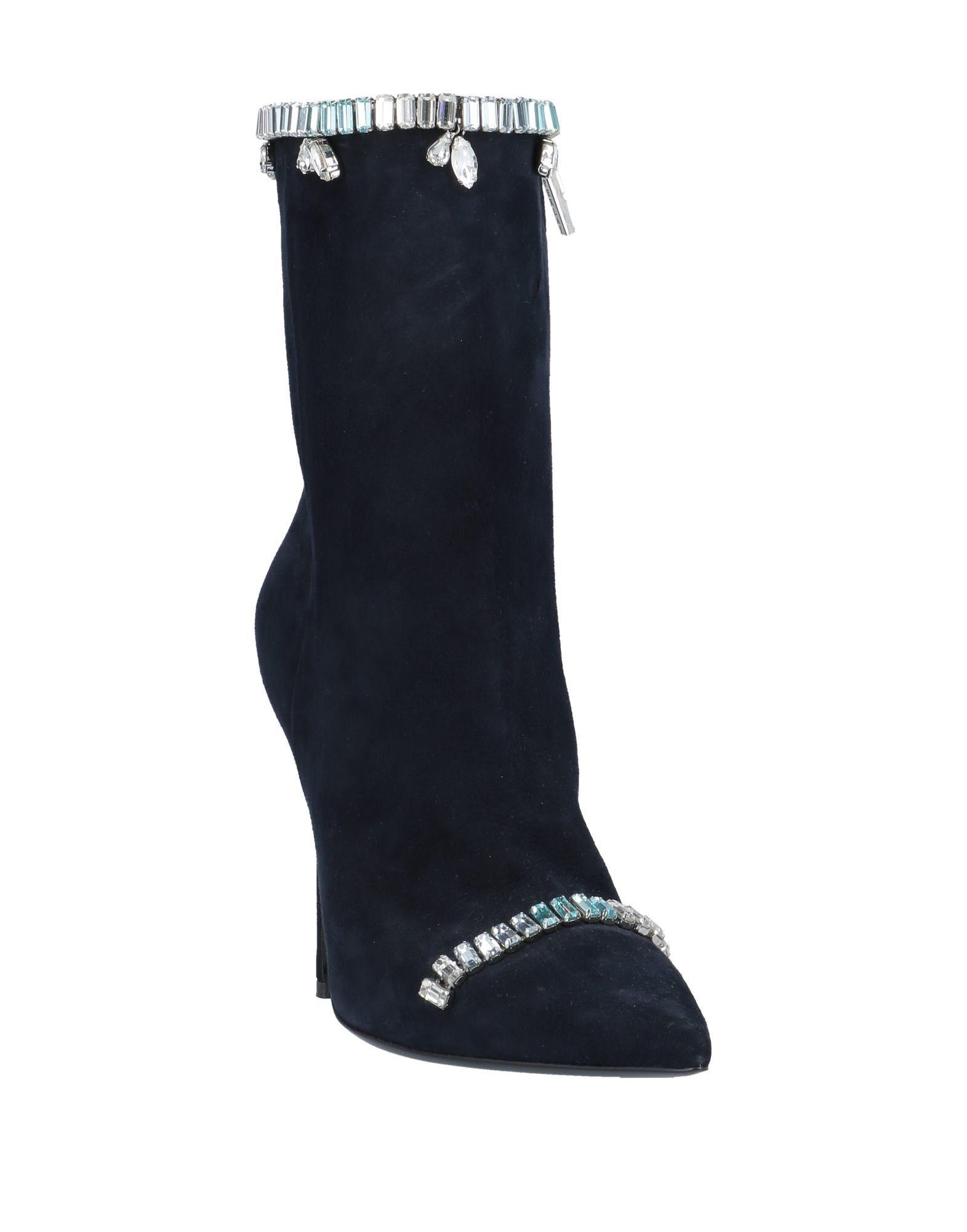 Botines de caña alta Aperlai de Ante de color Azul
