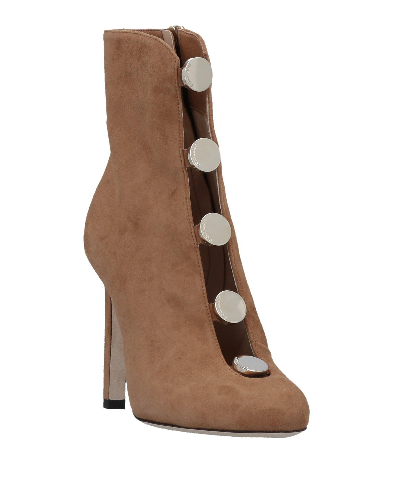 Jimmy Choo Suede Ankle Boots in Camel (Brown)