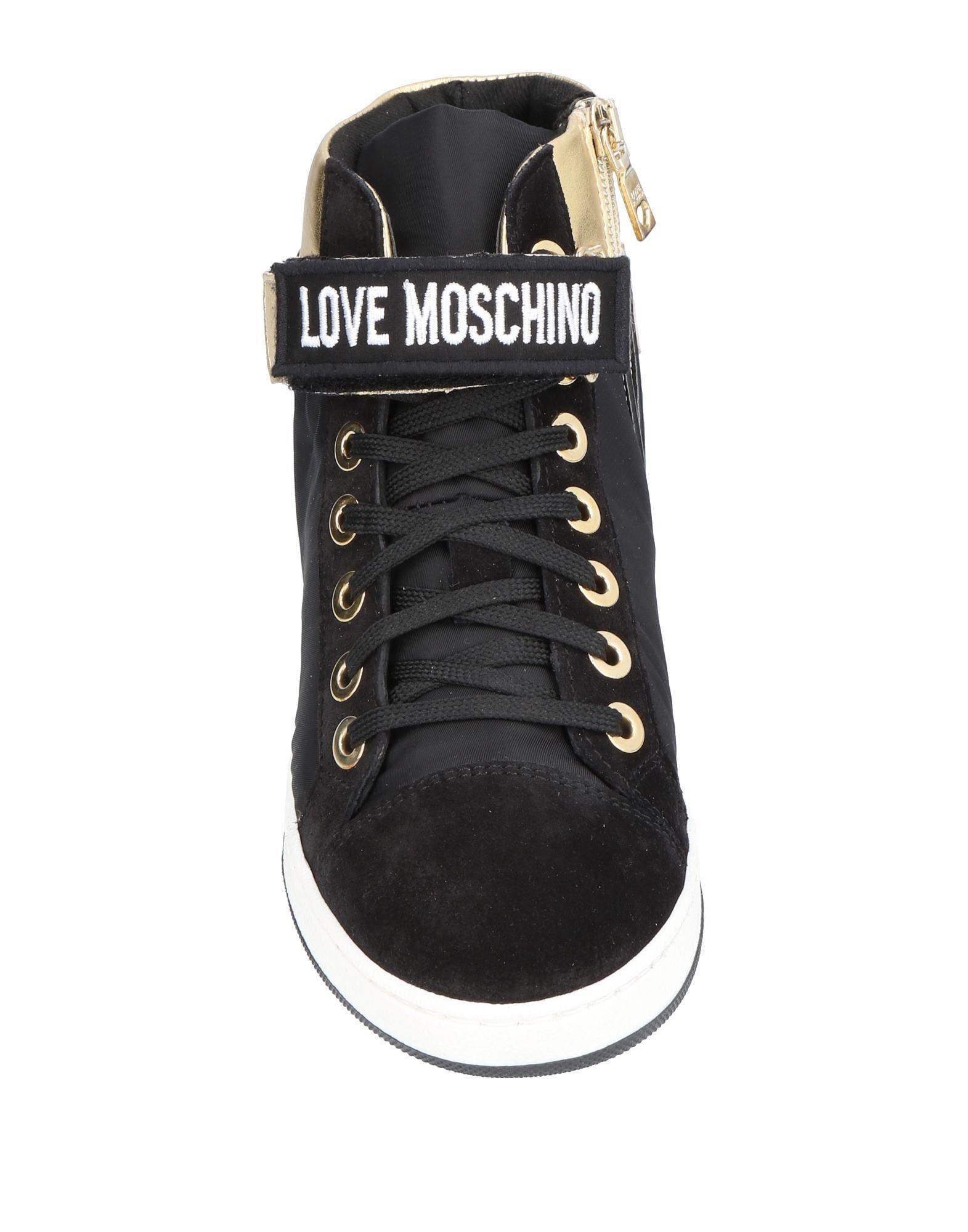 Sneakers abotinadas Love Moschino de Cuero de color Negro
