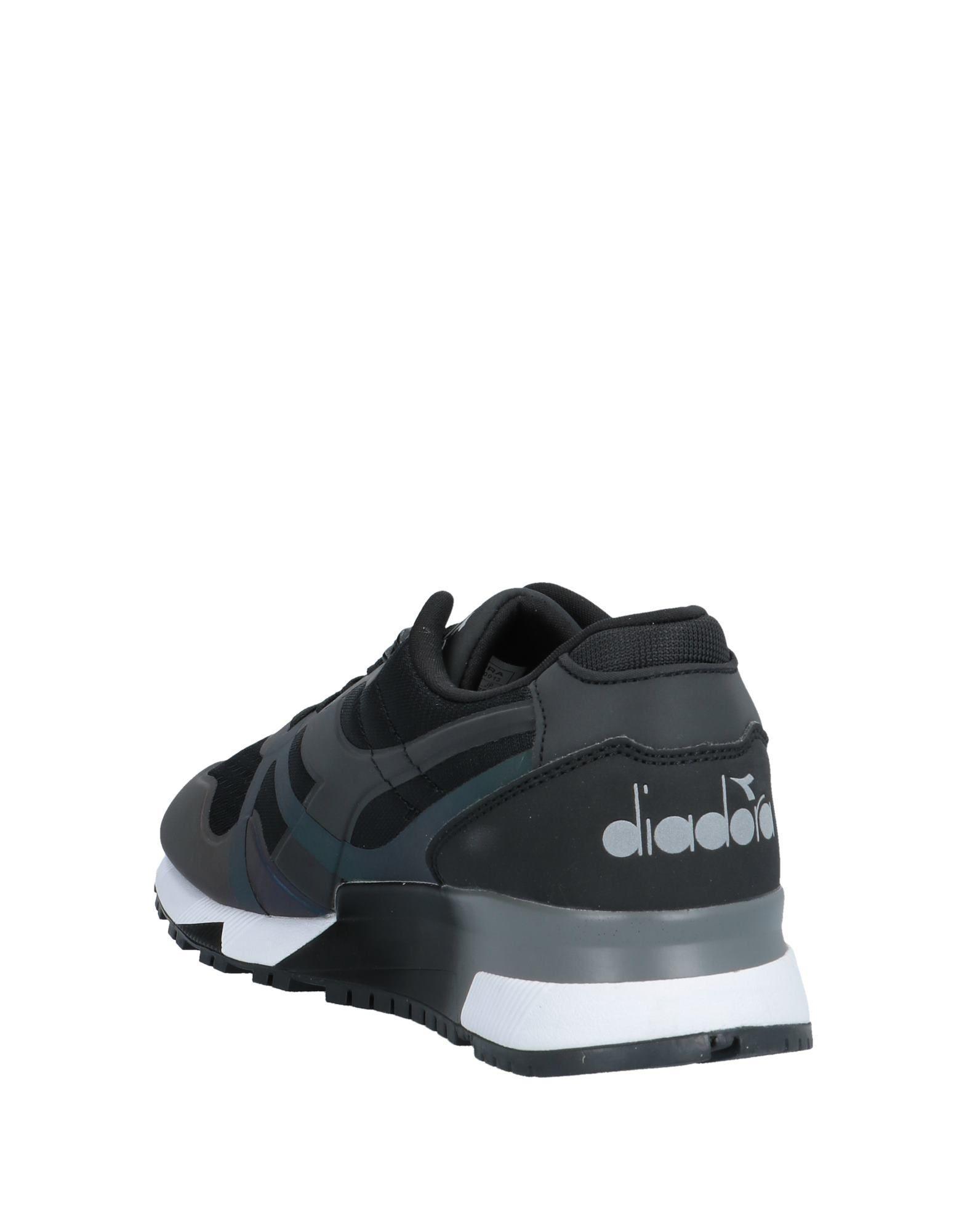 Zapatos de cordones Diadora de Cuero de color Negro para hombre