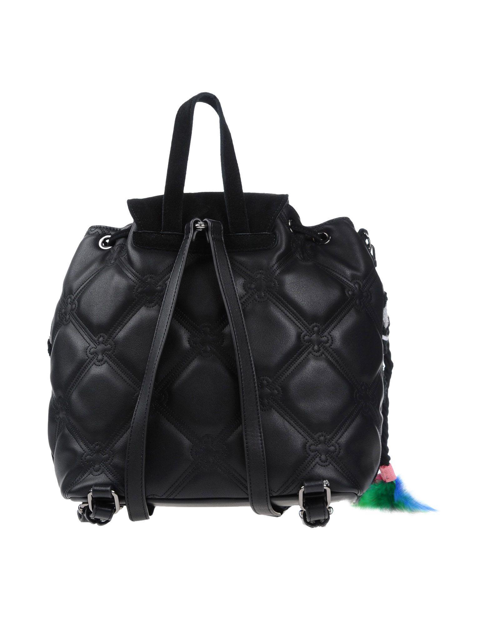 V73 Leather Backpacks & Bum Bags in Black