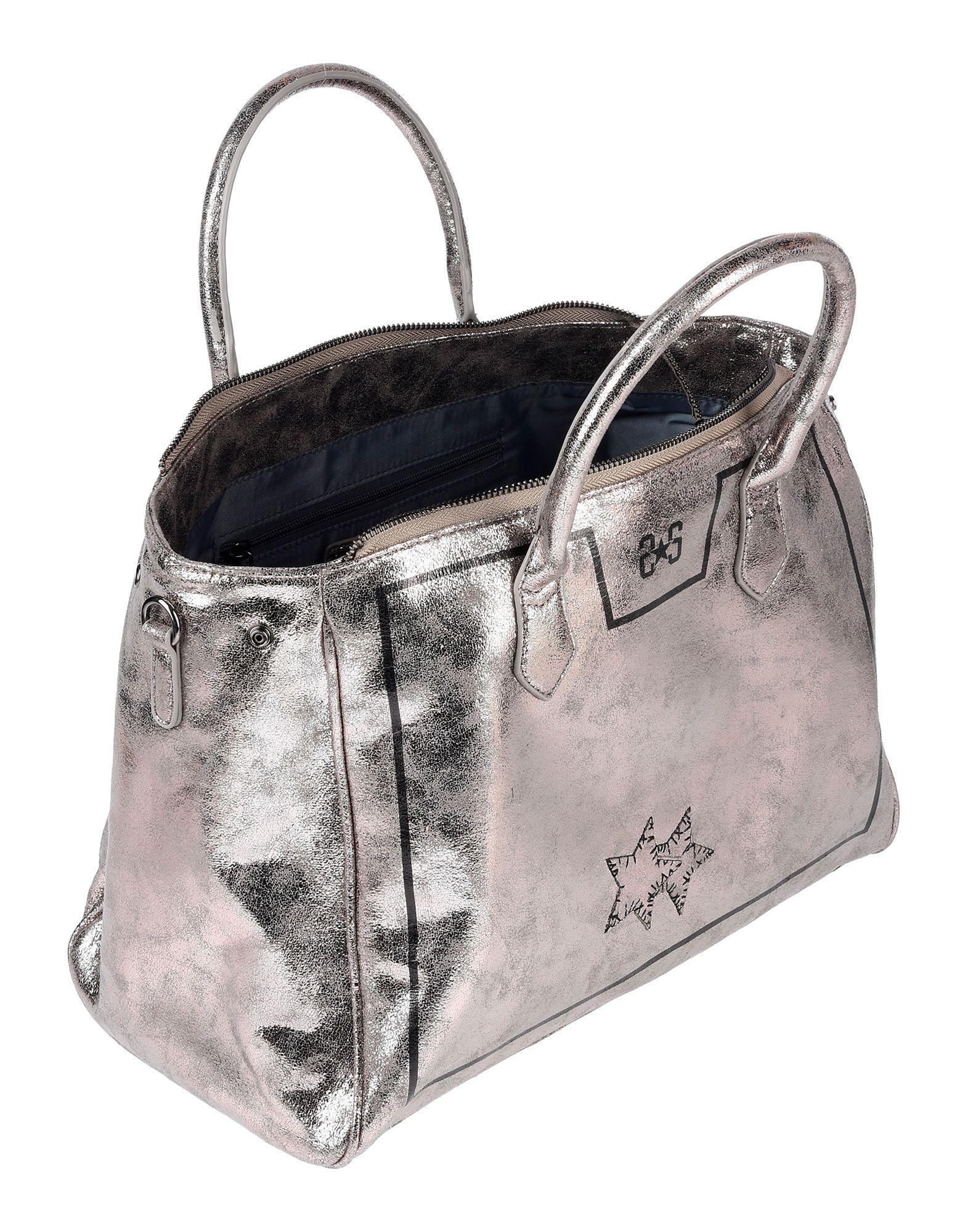 2Star Synthetik Handtaschen in Grau 8RTV7