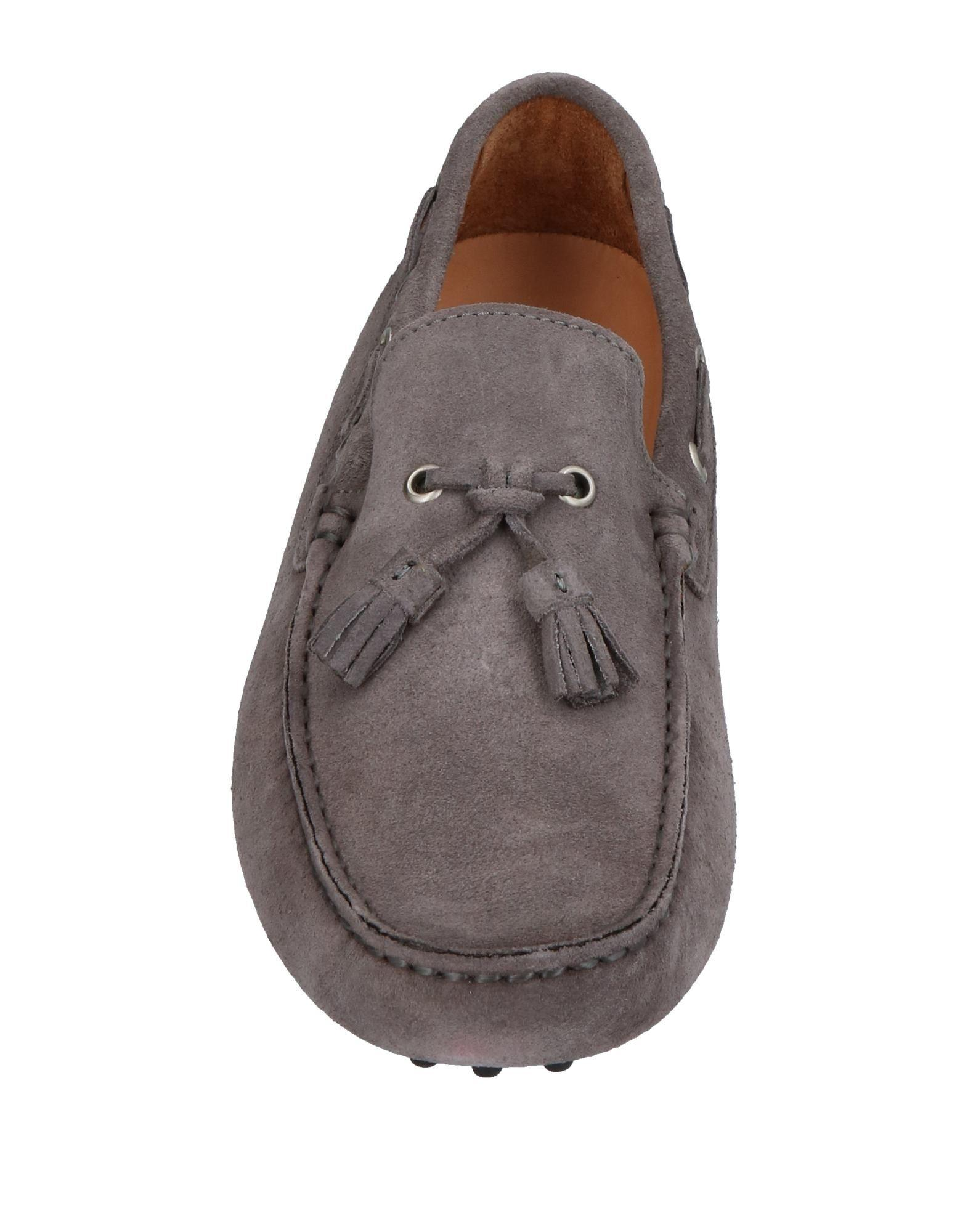 Kiton Suede Loafer in Lead (Grey) for Men