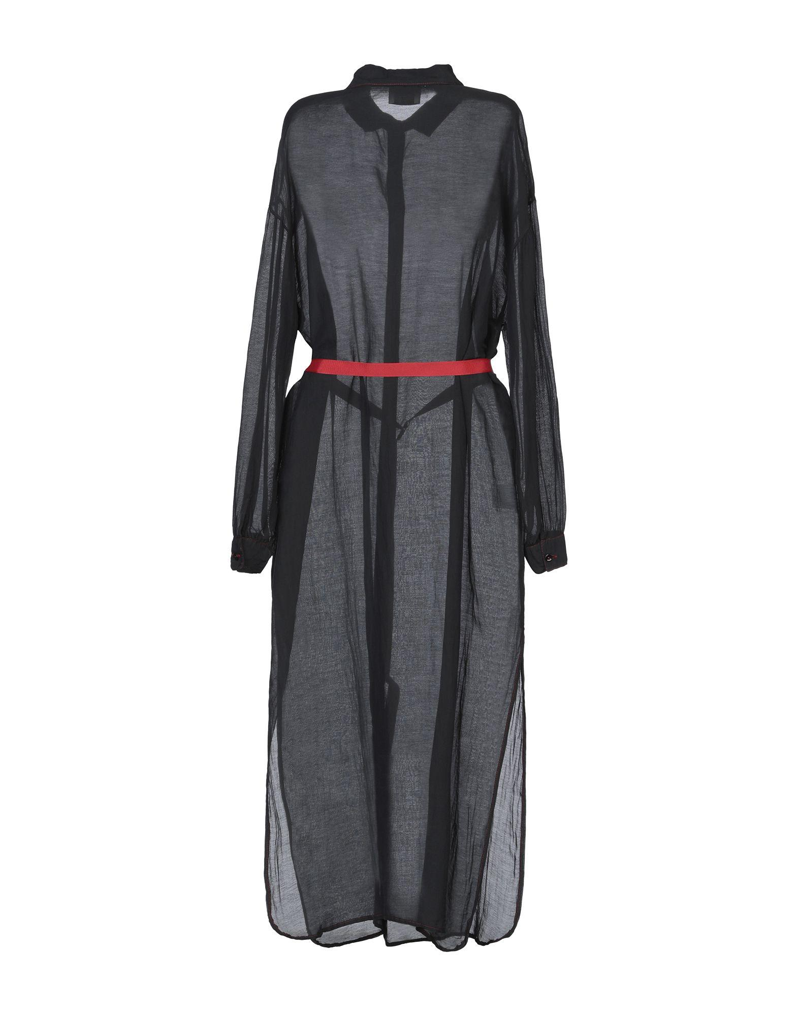 Robe mi-longue Coton ..,merci en coloris Noir
