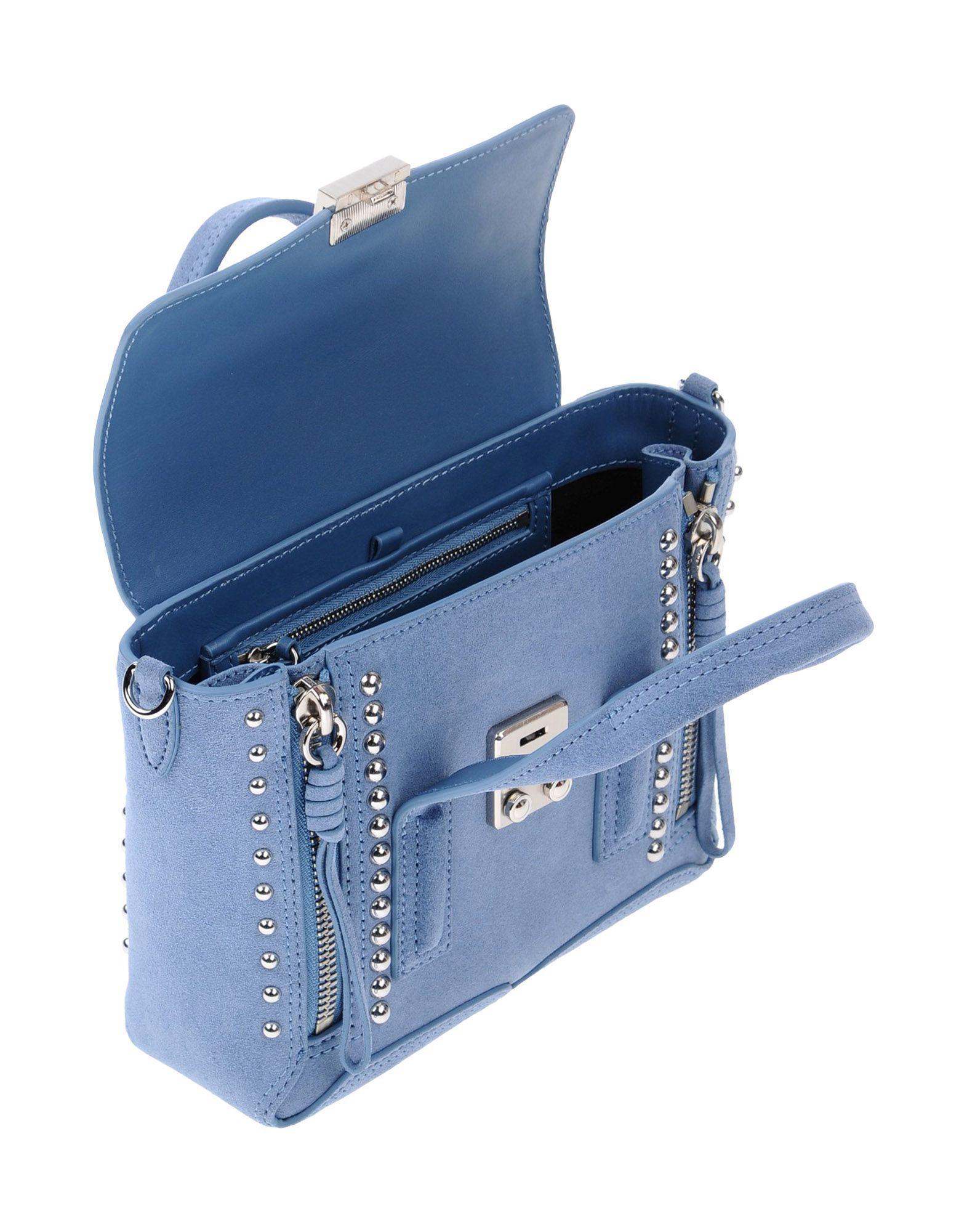 3.1 Phillip Lim Leder Handtaschen in Blau 05wG1