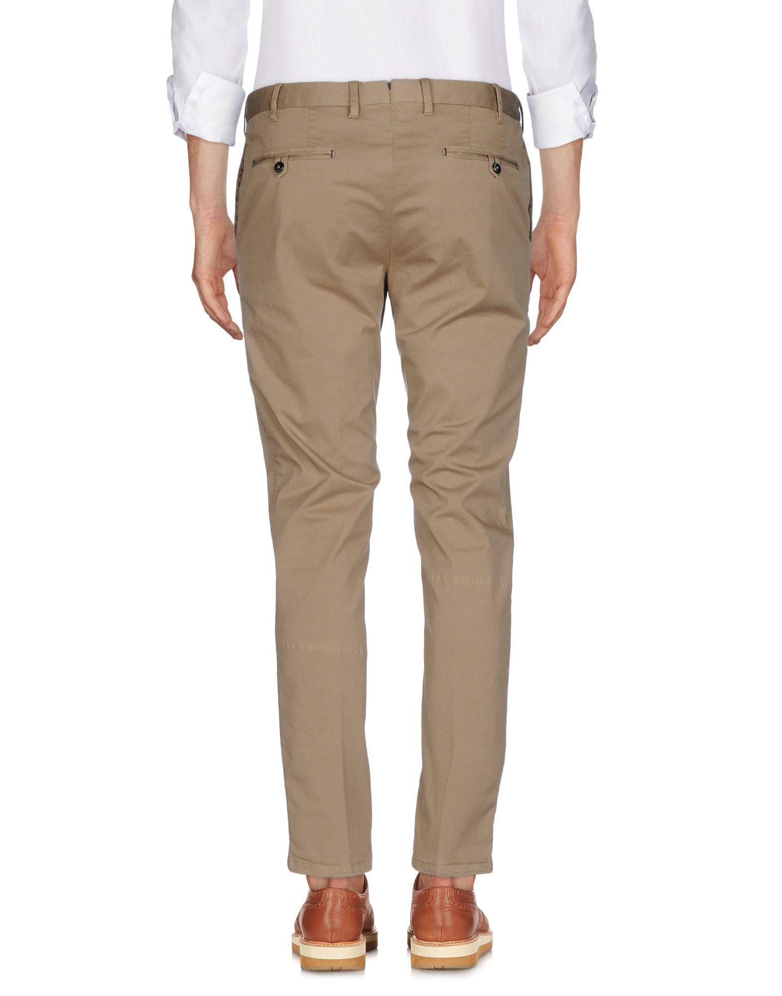 PT01 Cotton Casual Trouser in Khaki (Natural) for Men