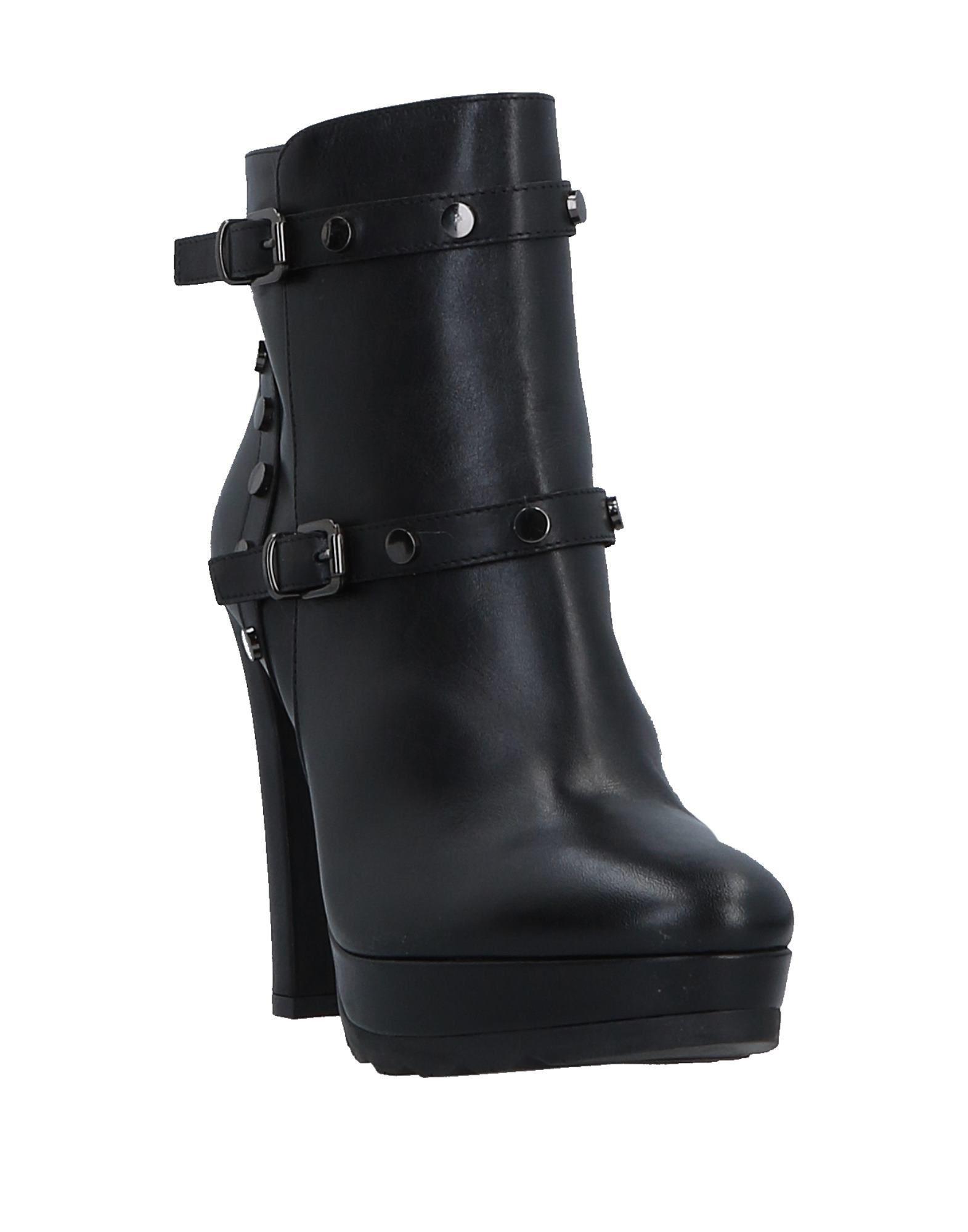 Botines de caña alta Albano de Caucho de color Negro