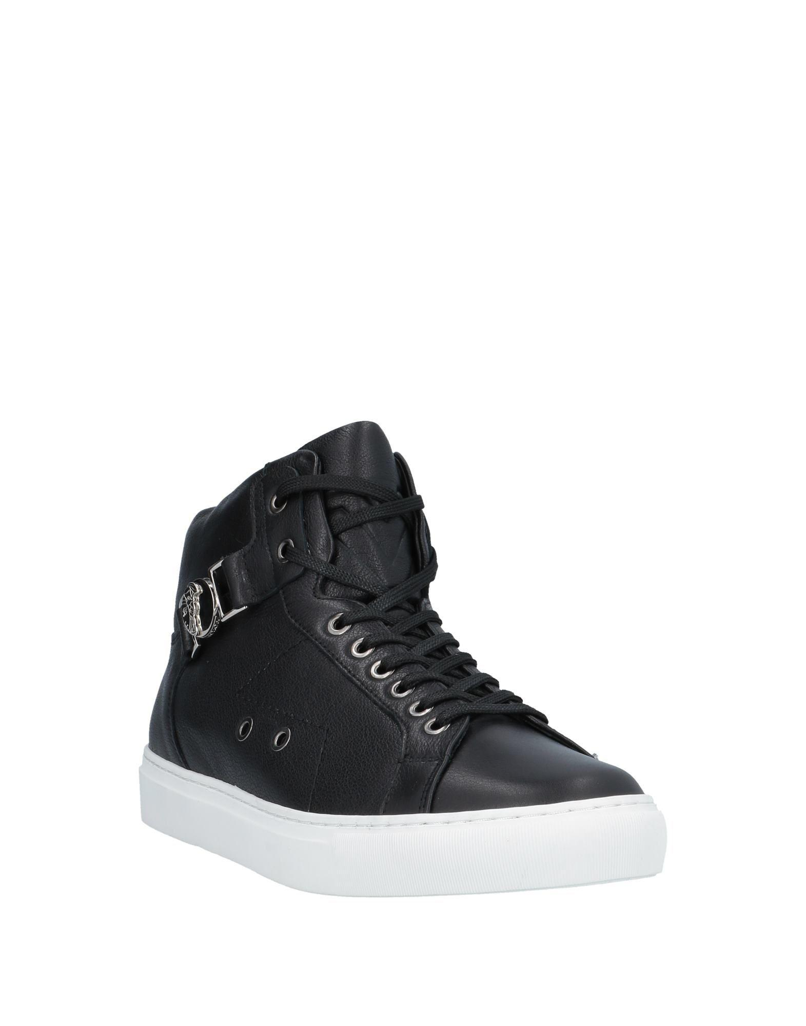 Sneakers abotinadas Versace de Cuero de color Negro para hombre