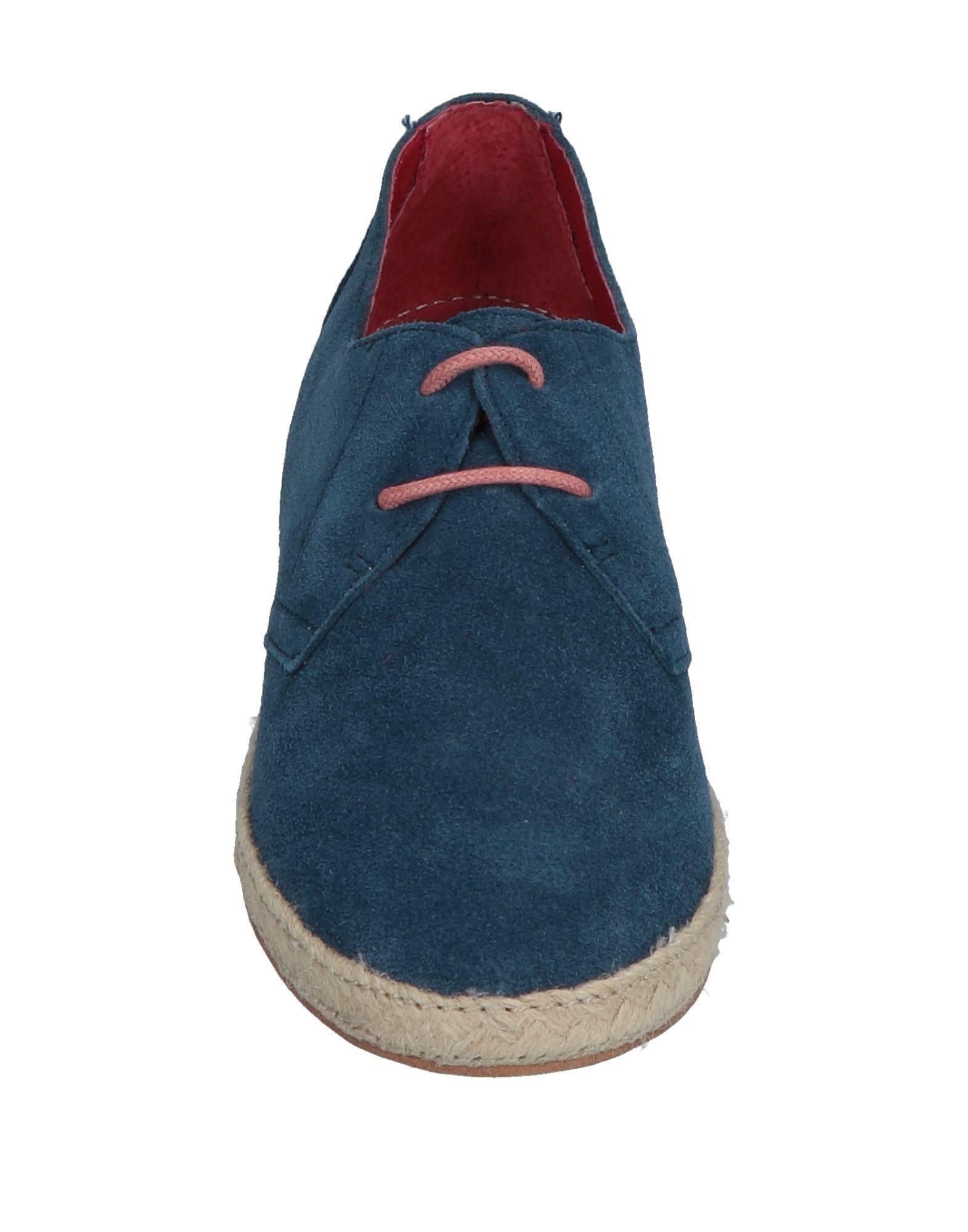 Zapatos de cordones CafeNoir de Cuero de color Azul