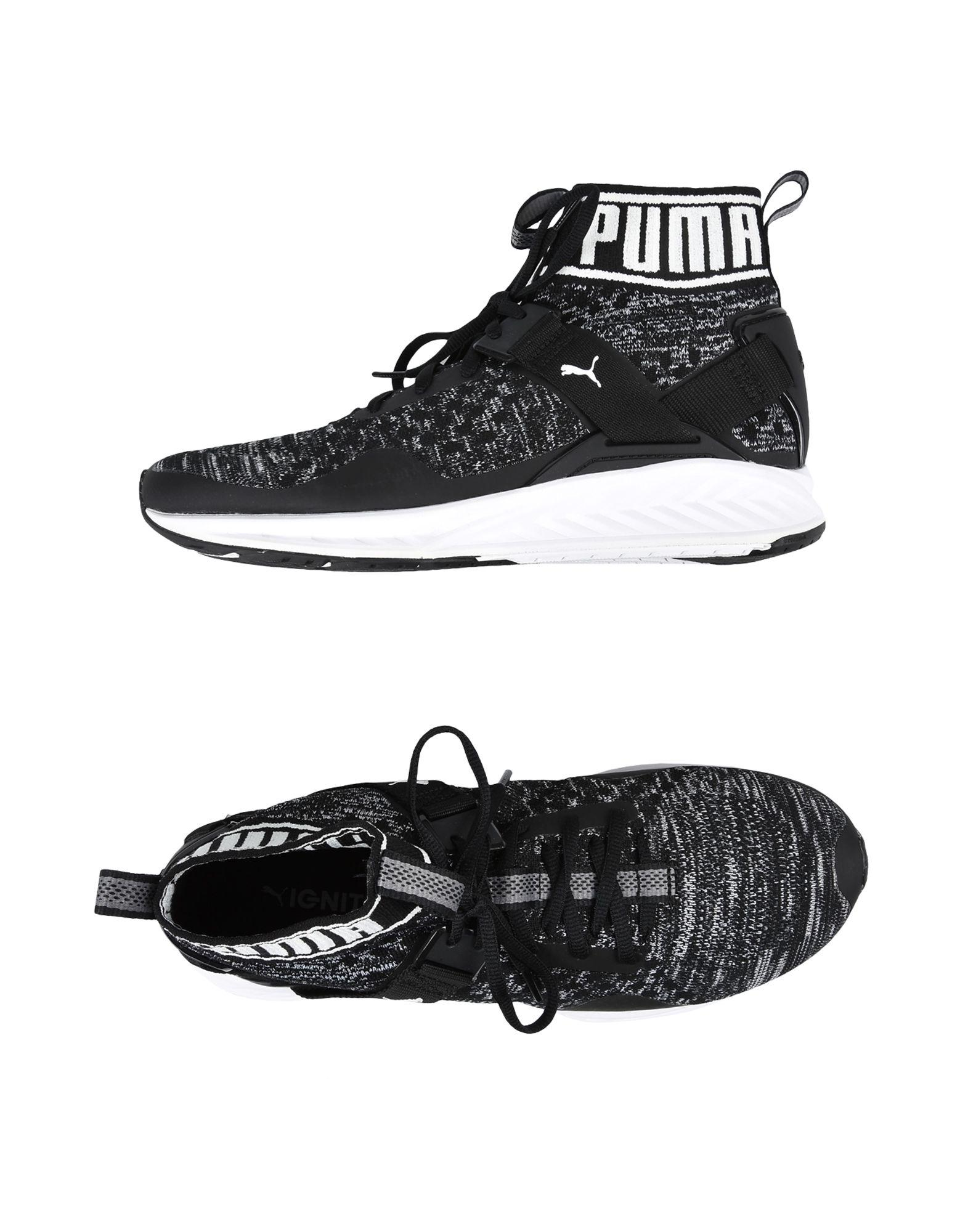 8ee5d5f33ee0 Lyst - PUMA Women s Ignite Evoknit High Top Sneakers in Black - Save 63%