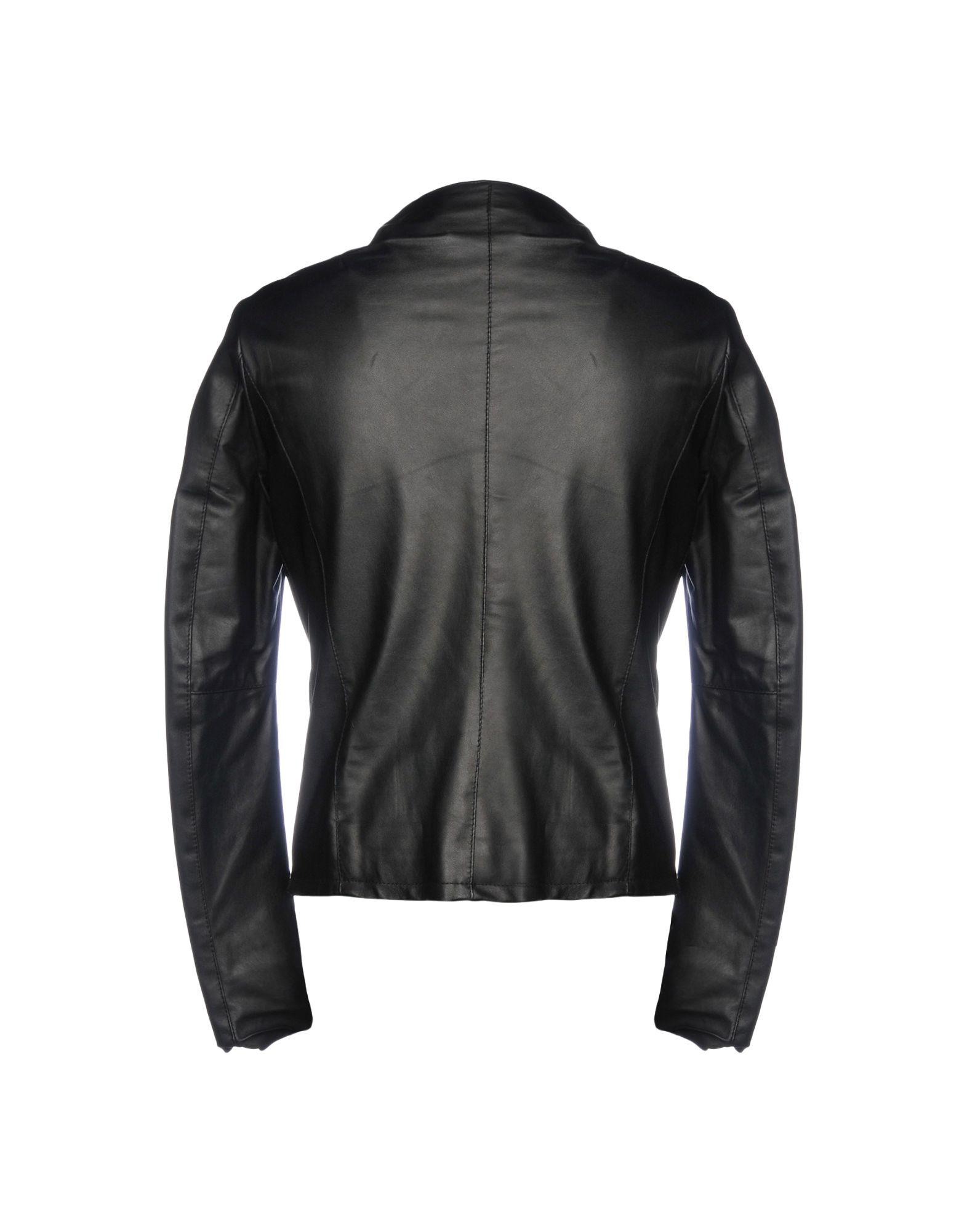 MNML Couture Leather Jacket in Black for Men