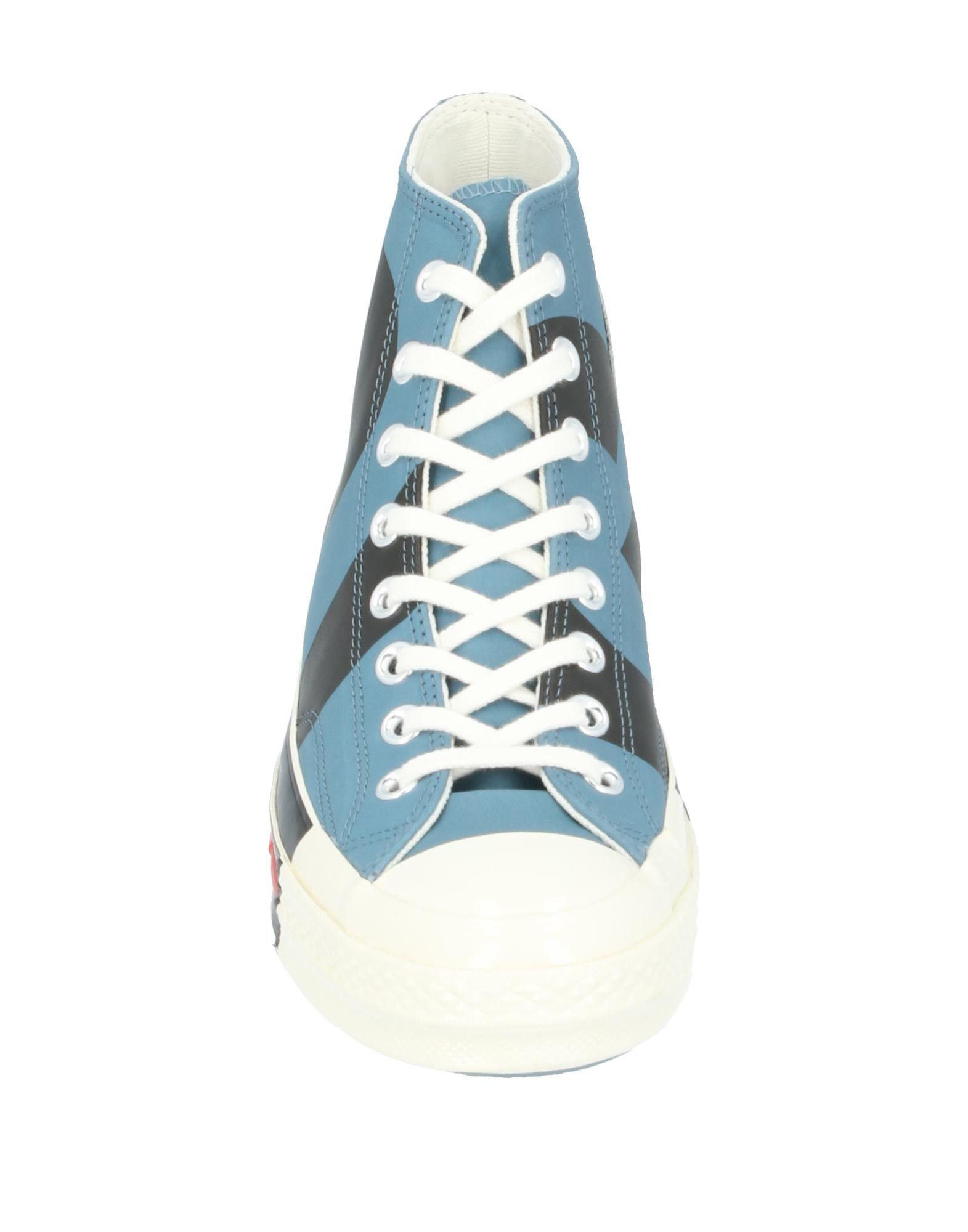 Sneakers abotinadas Converse de Cuero de color Azul