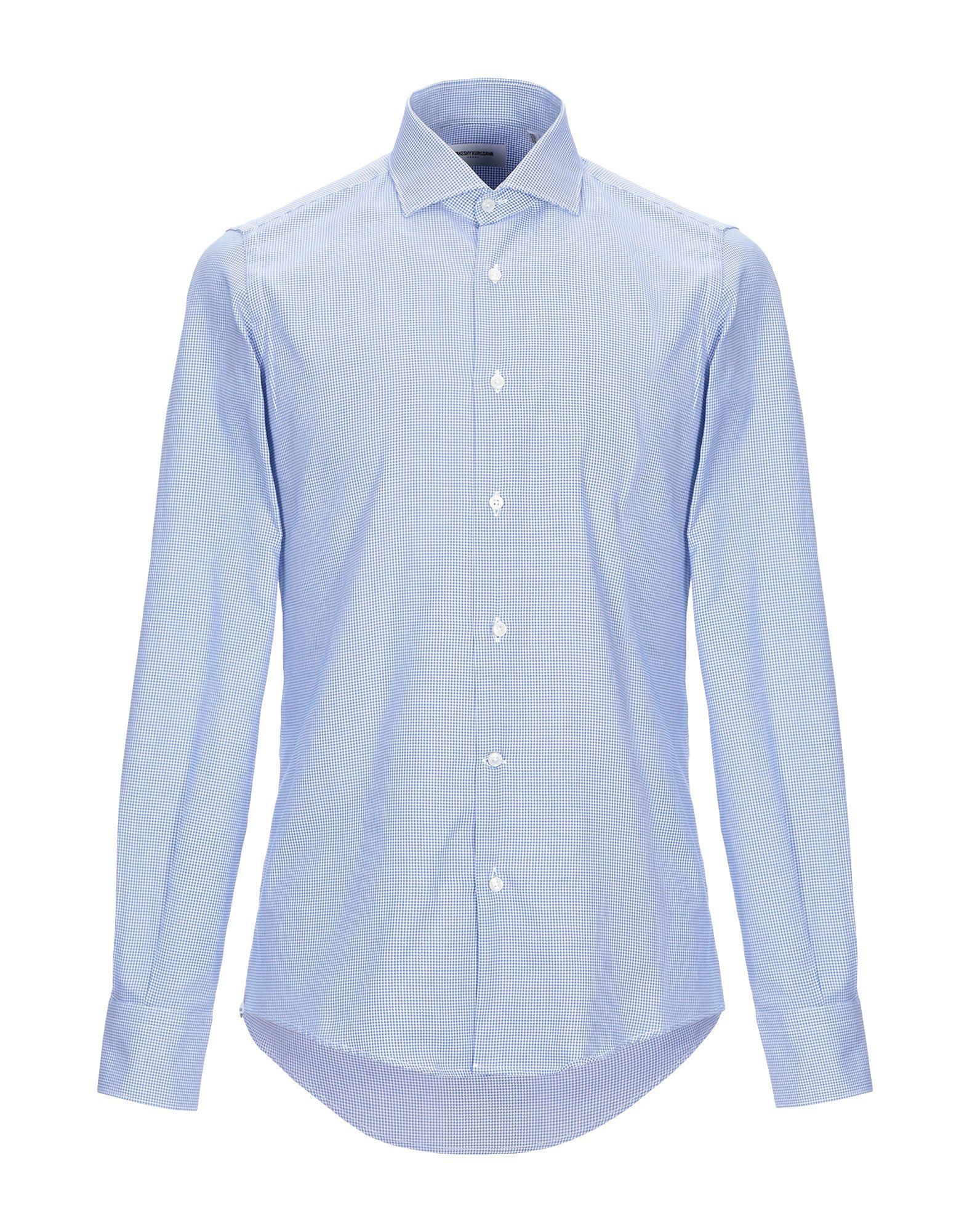 Takeshy Kurosawa Cotton Shirt in Sky Blue (Blue) for Men ...