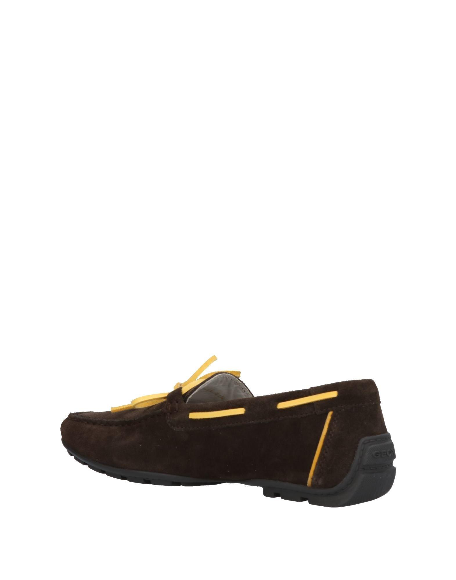 Geox Suede Loafer in Dark Brown (Brown) for Men