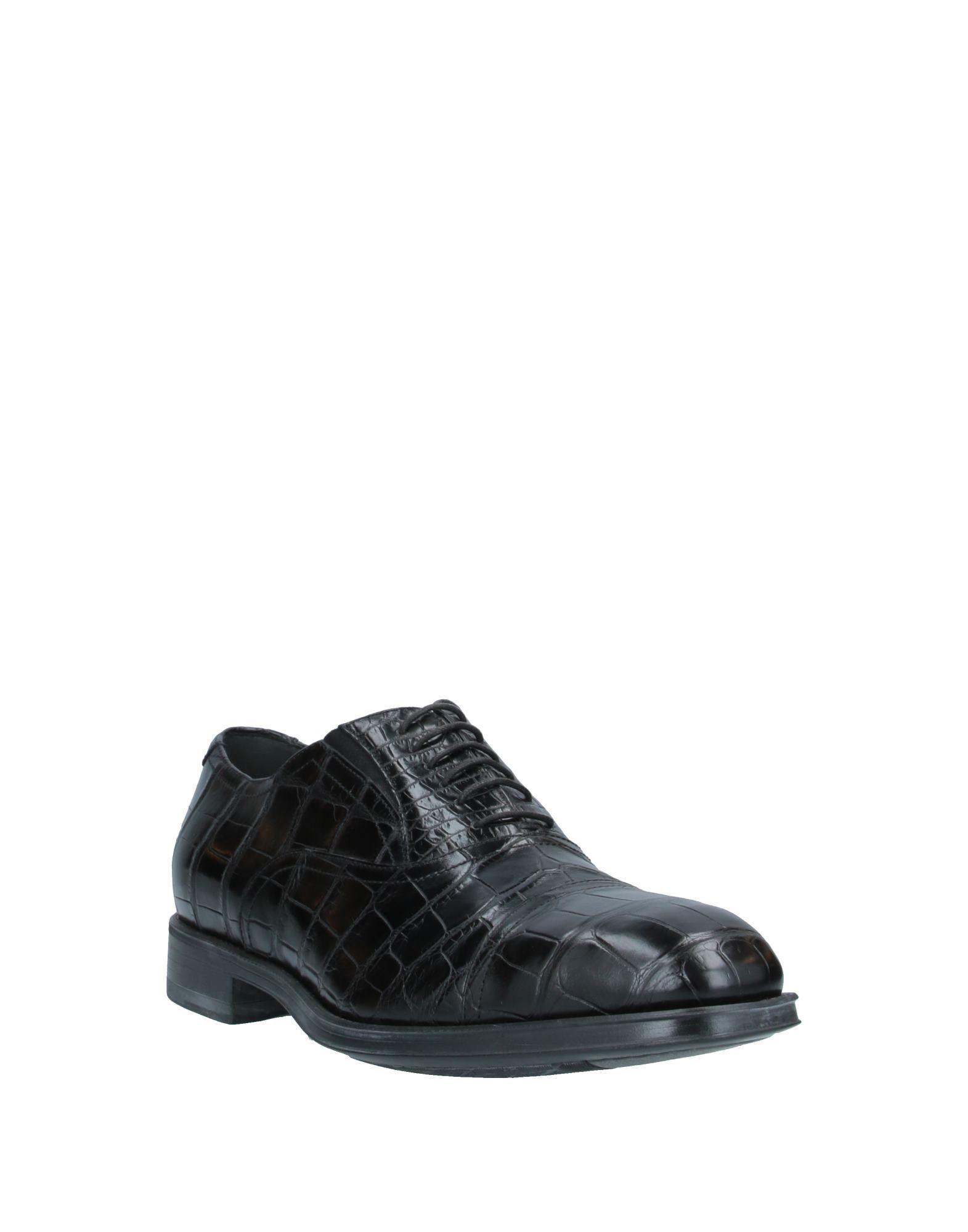 Zapatos de cordones Alberto Guardiani de Cuero de color Negro para hombre
