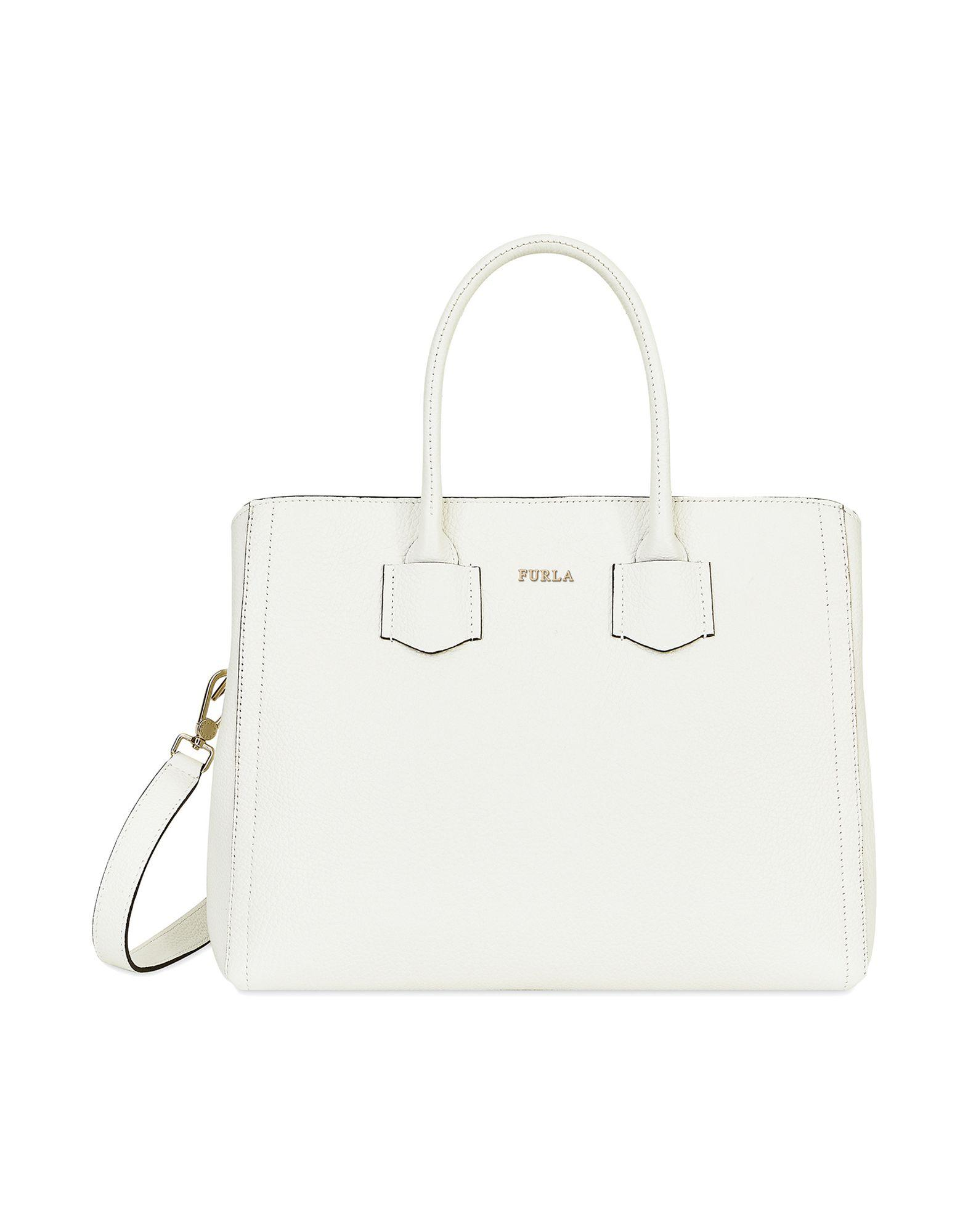 7de50cd5d024 Furla - White Handbag - Lyst. View fullscreen