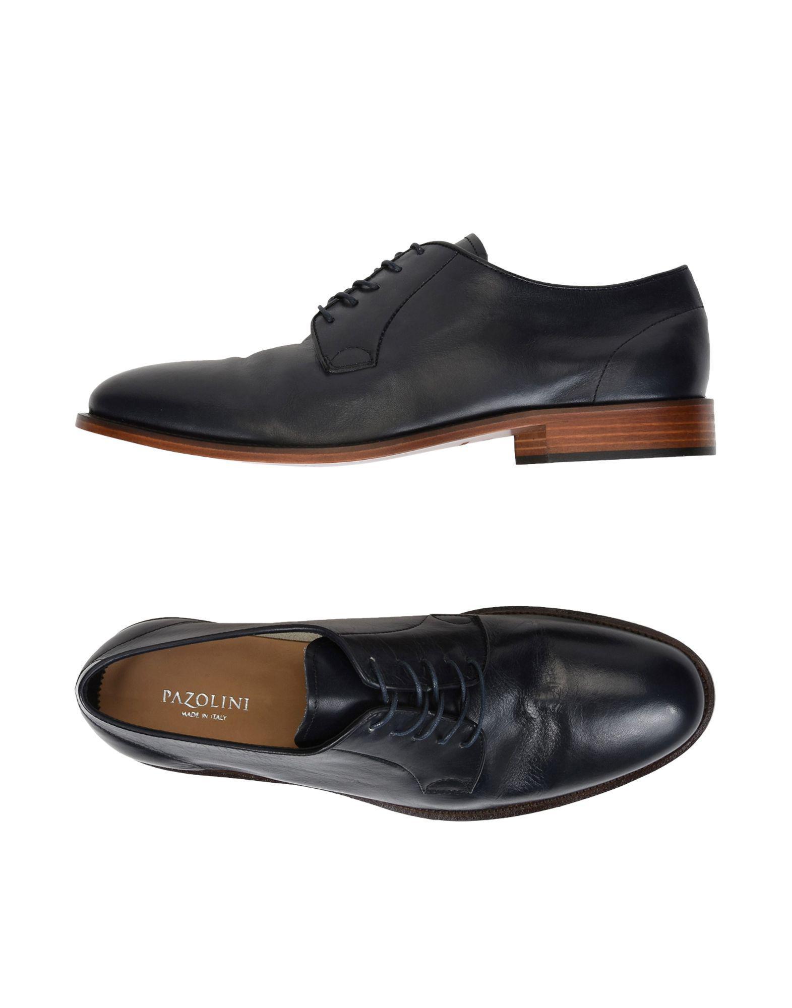 CARLO PAZOLINI Laced shoes Dark blue Men