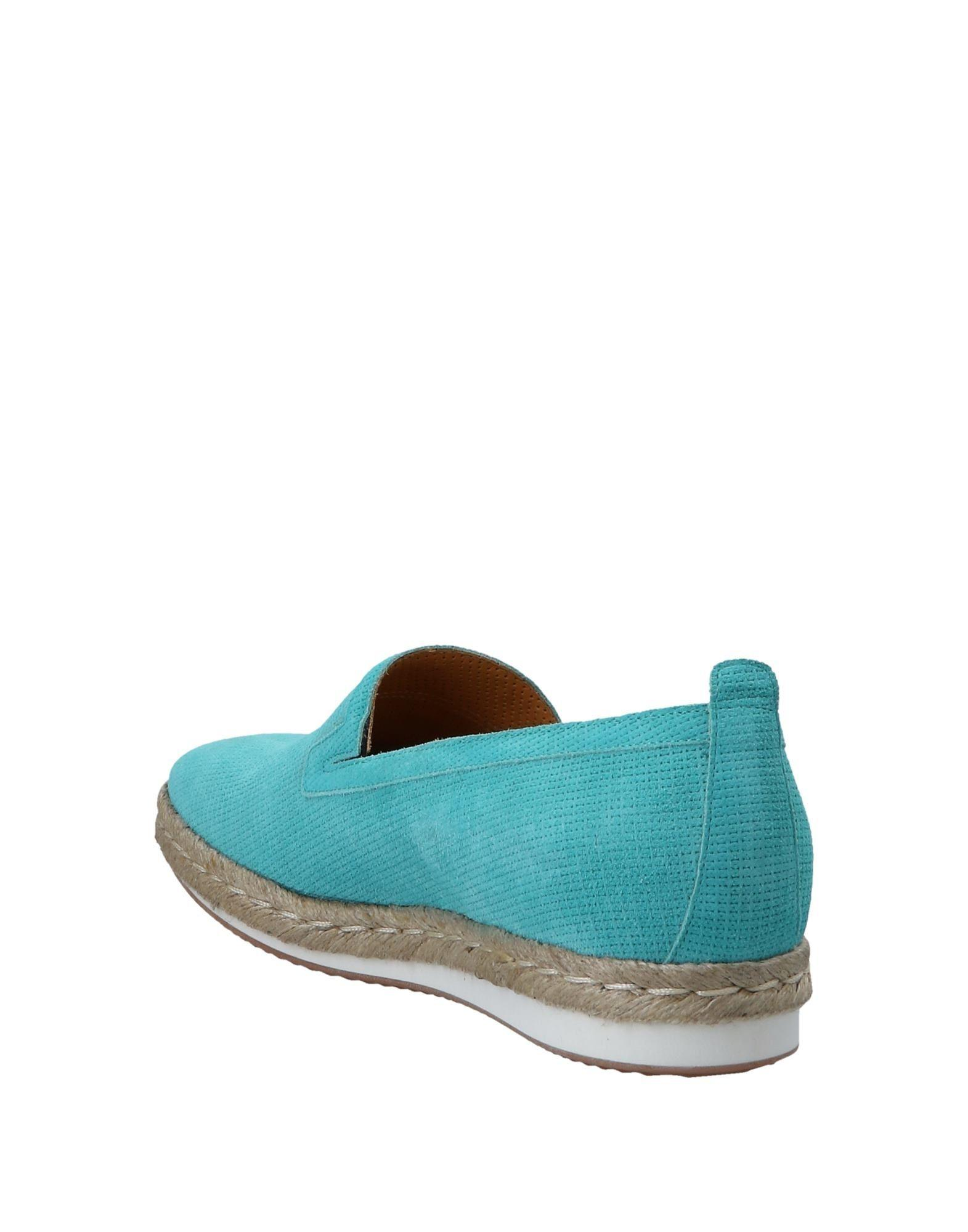 A.Testoni Suede Espadrilles in Turquoise (Blue) for Men