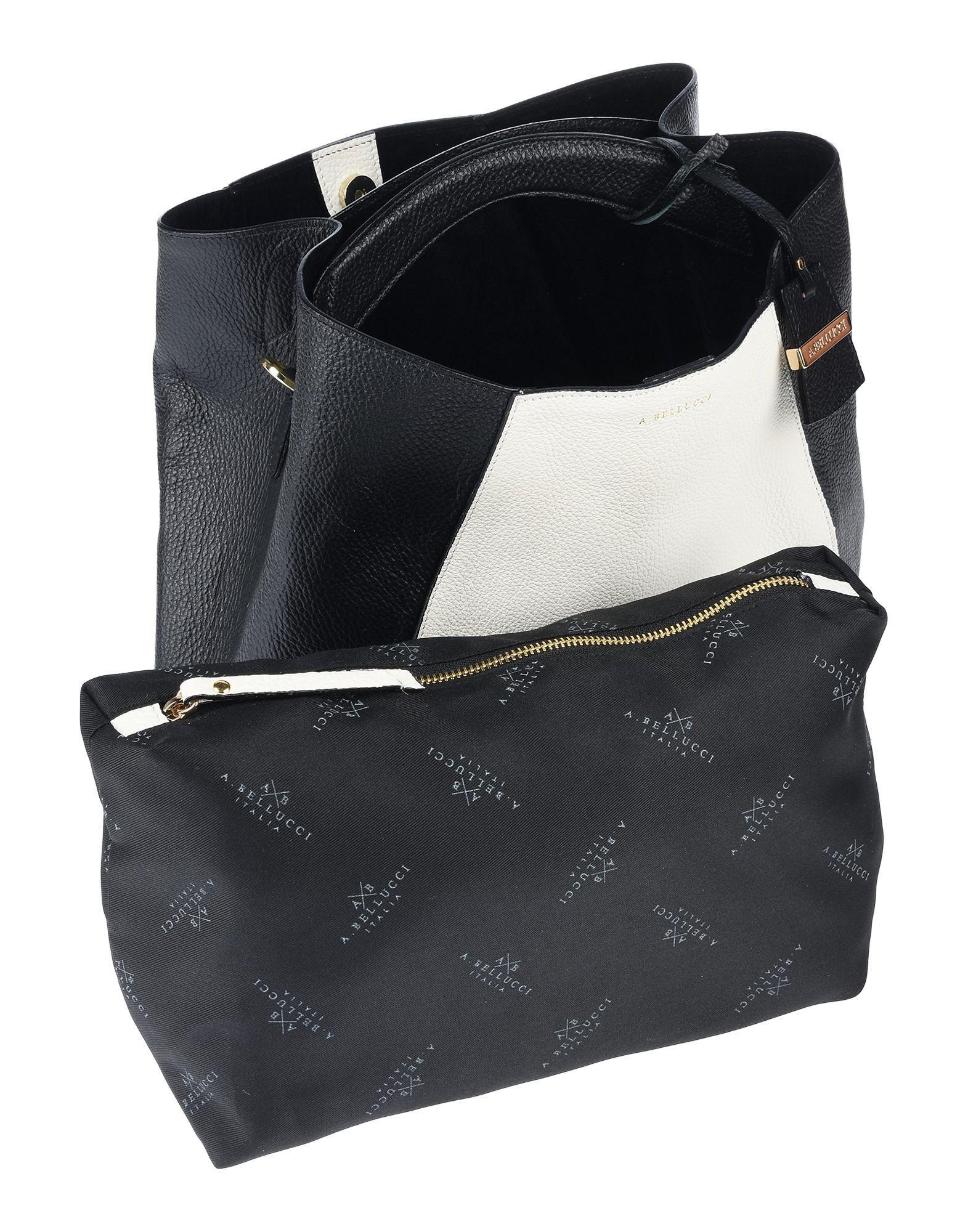 Ab Asia Bellucci Leder Handtaschen in Schwarz 6LeLE