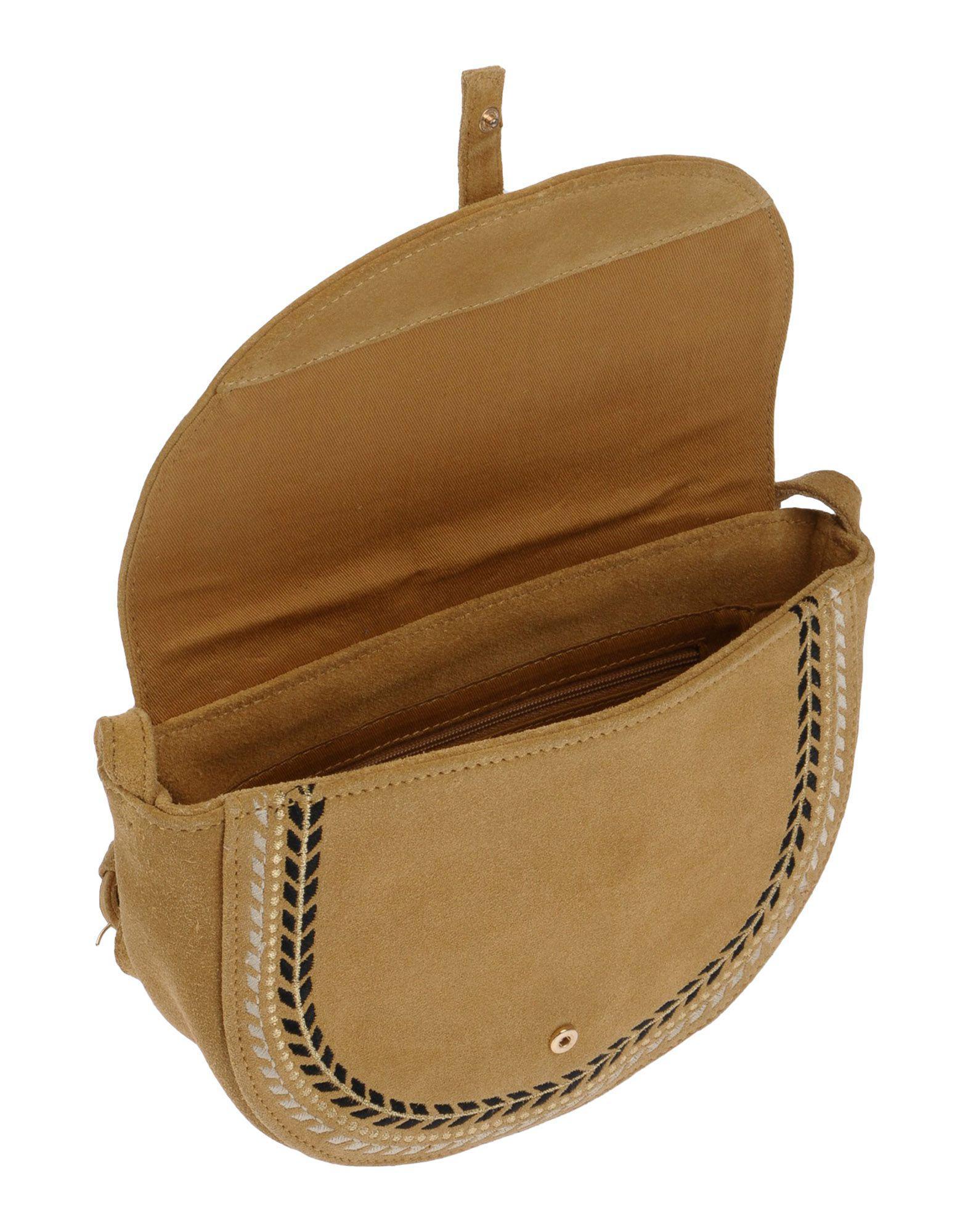 Petite Mendigote Suede Cross-body Bags in Camel (Natural)