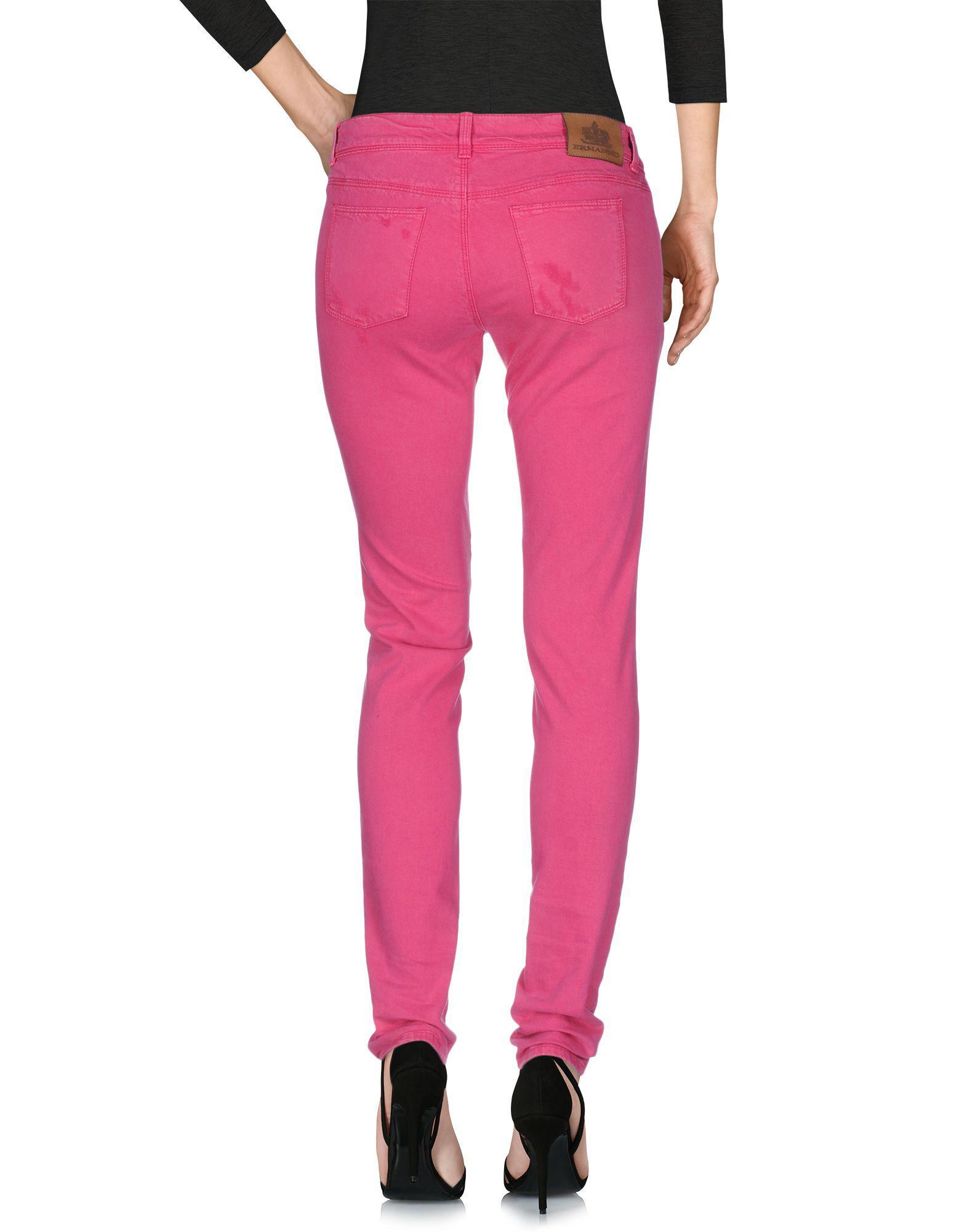 5cf6e83b72d Ermanno Scervino - Pink Pantalones vaqueros - Lyst. Ver en pantalla completa