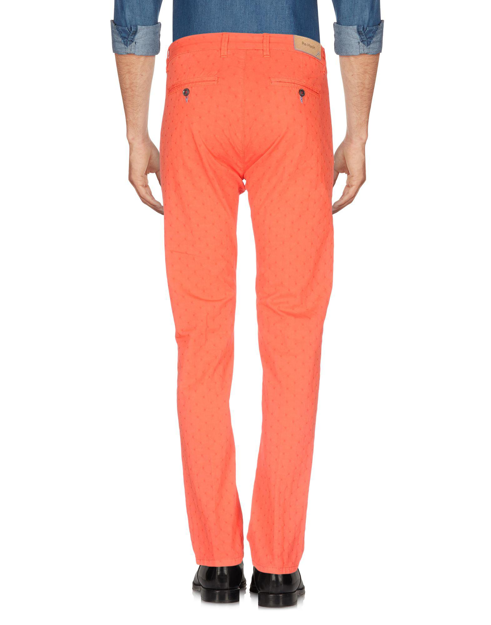 Re-hash Leather Casual Trouser in Red for Men