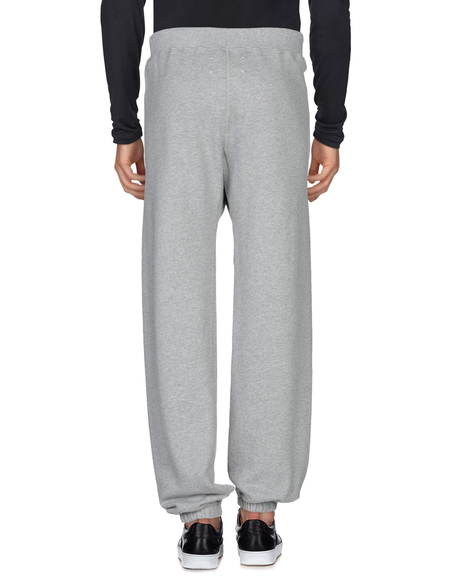 Maison Margiela Fleece Casual Pants in Grey (Grey) for Men