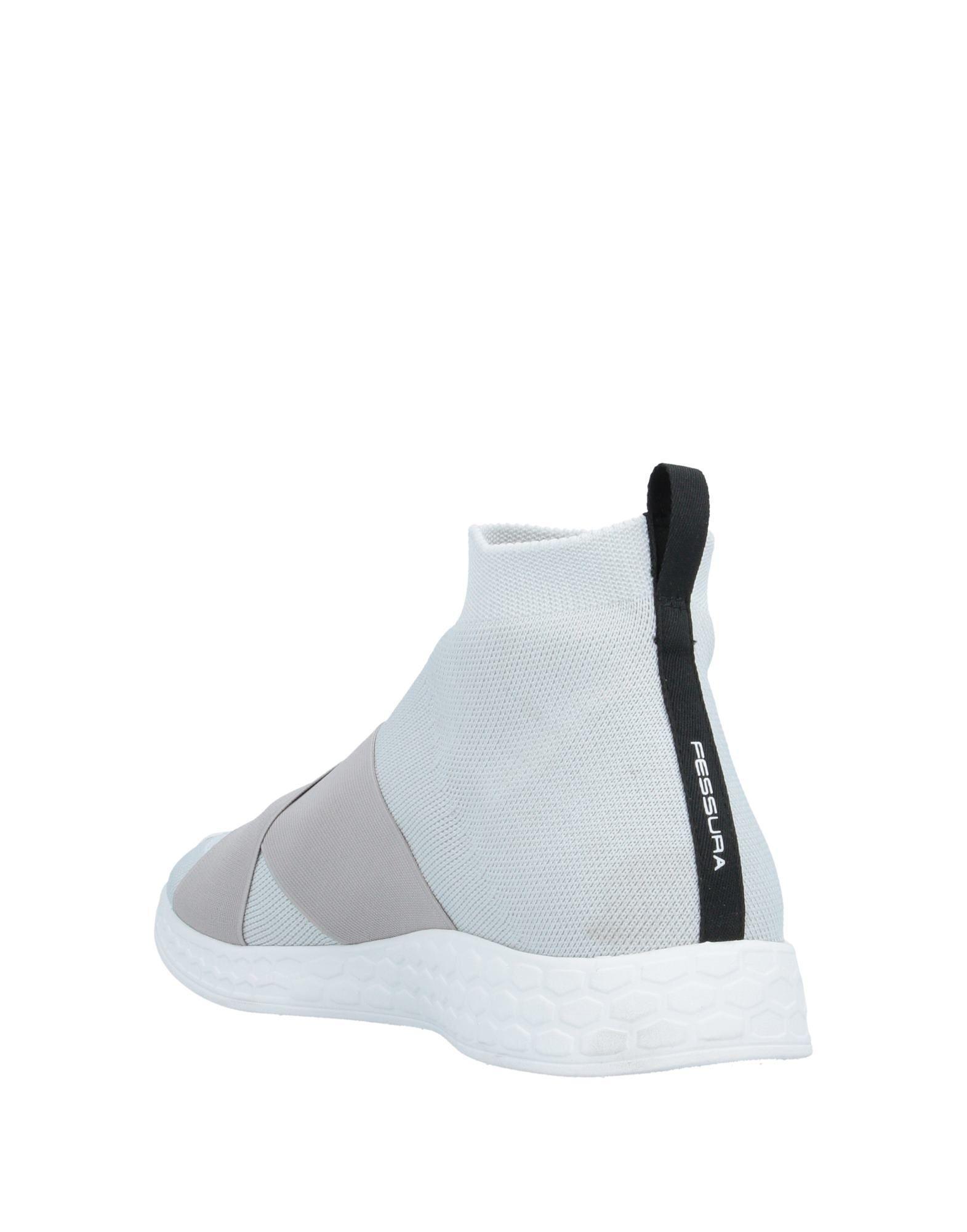 Sneakers abotinadas Fessura de Caucho de color Gris para hombre