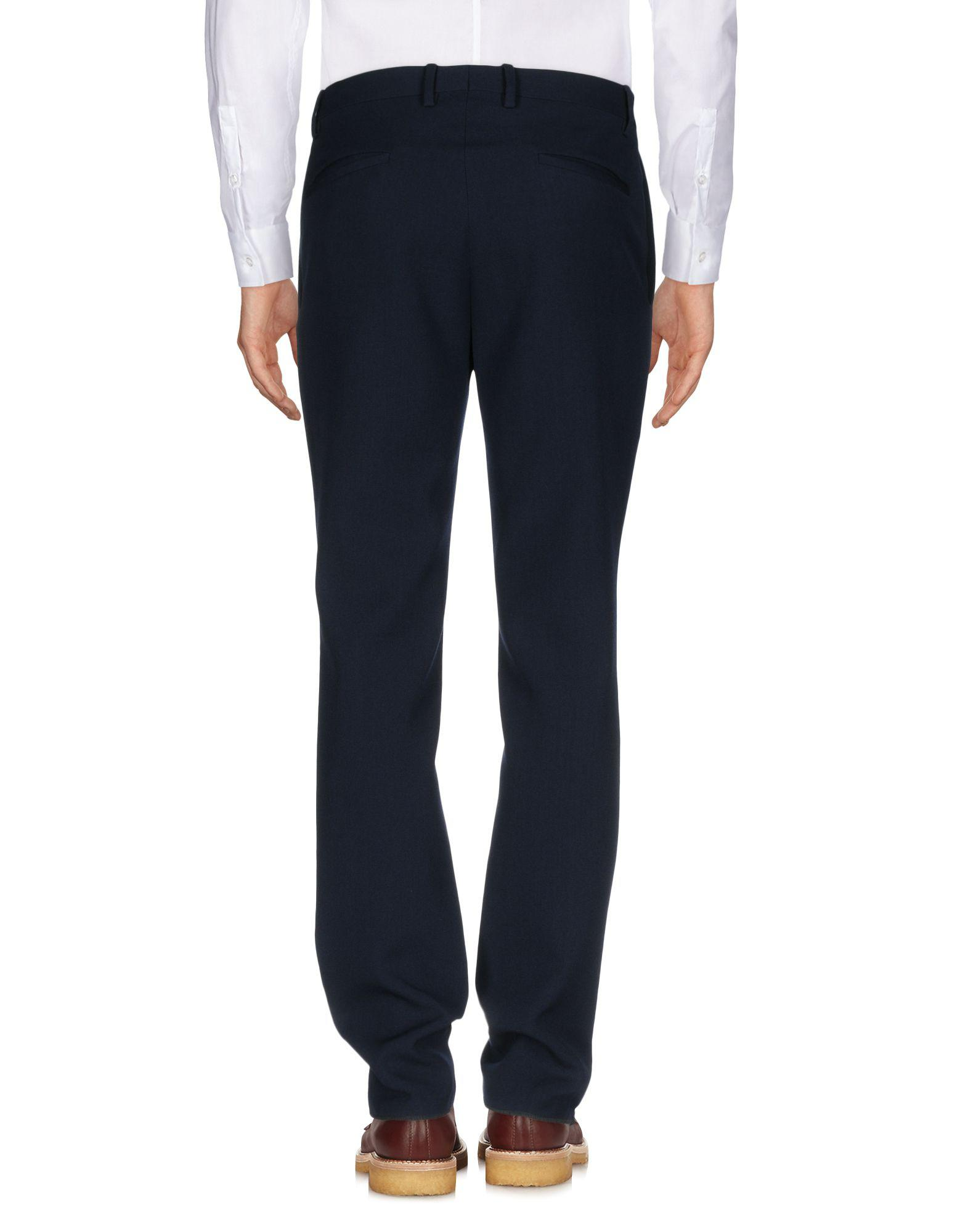 Umit Benan Wool Casual Pants in Dark Blue (Blue) for Men