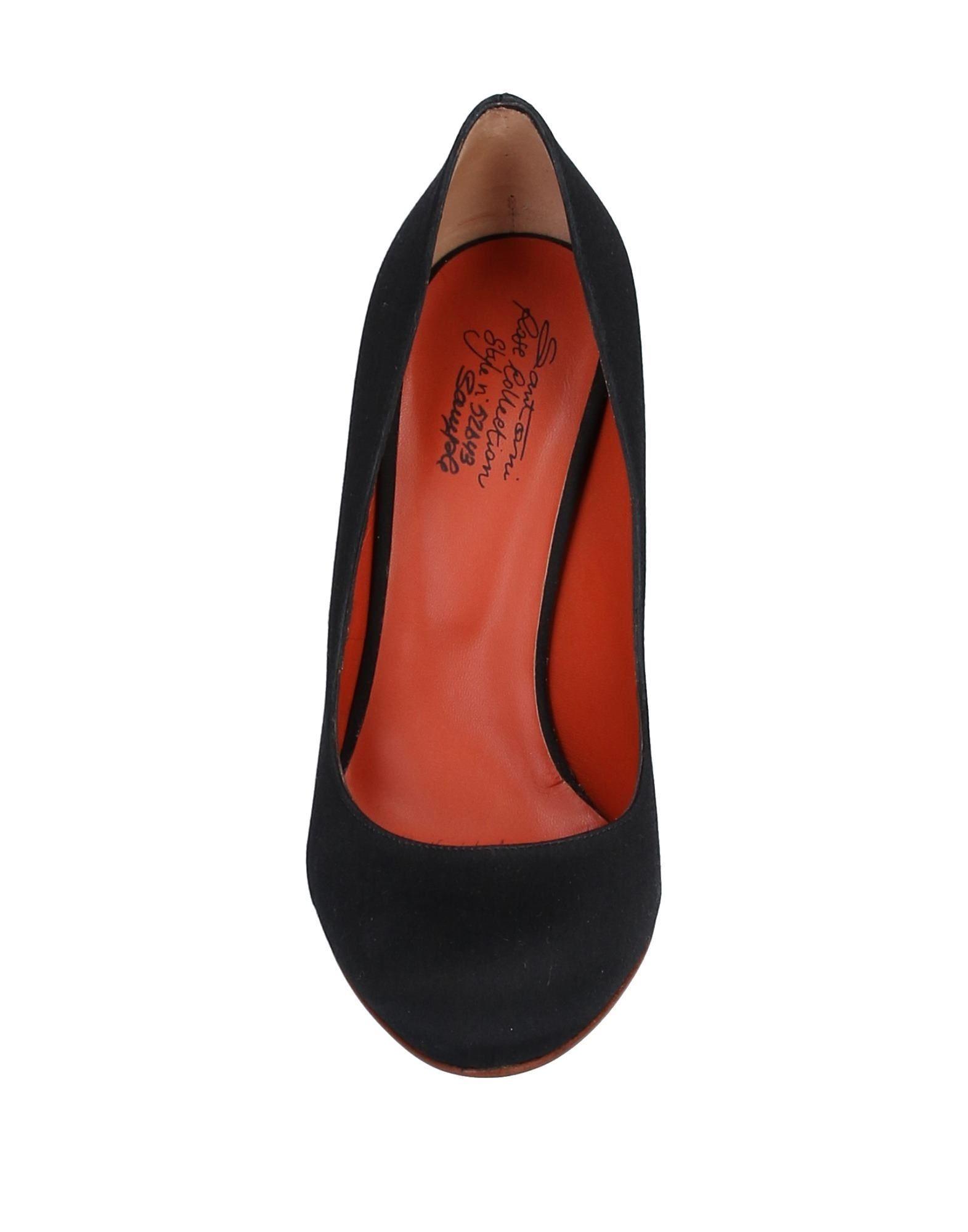 Zapatos de salón Santoni de Raso de color Negro