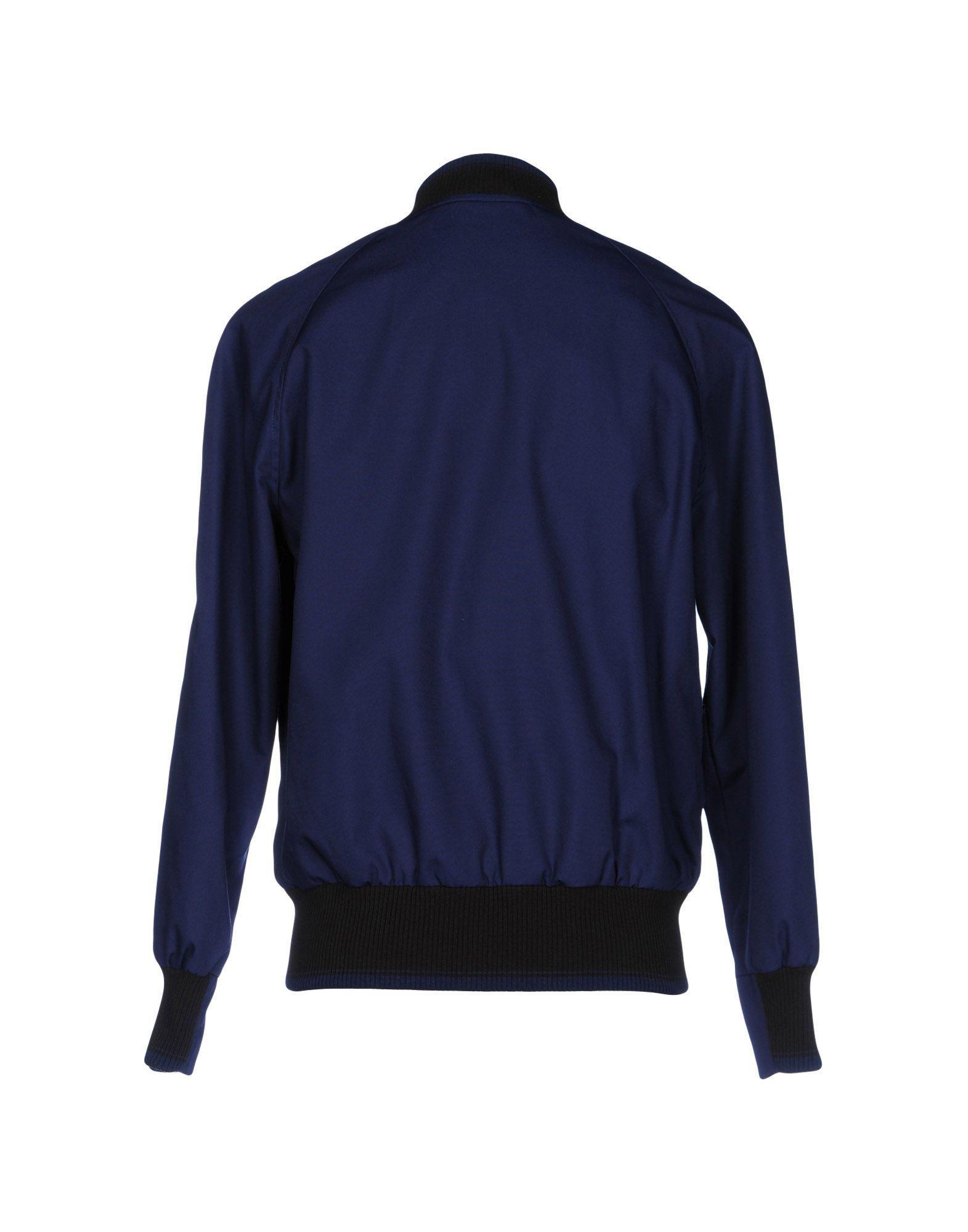 Club Monaco Leather Jacket in Blue for Men