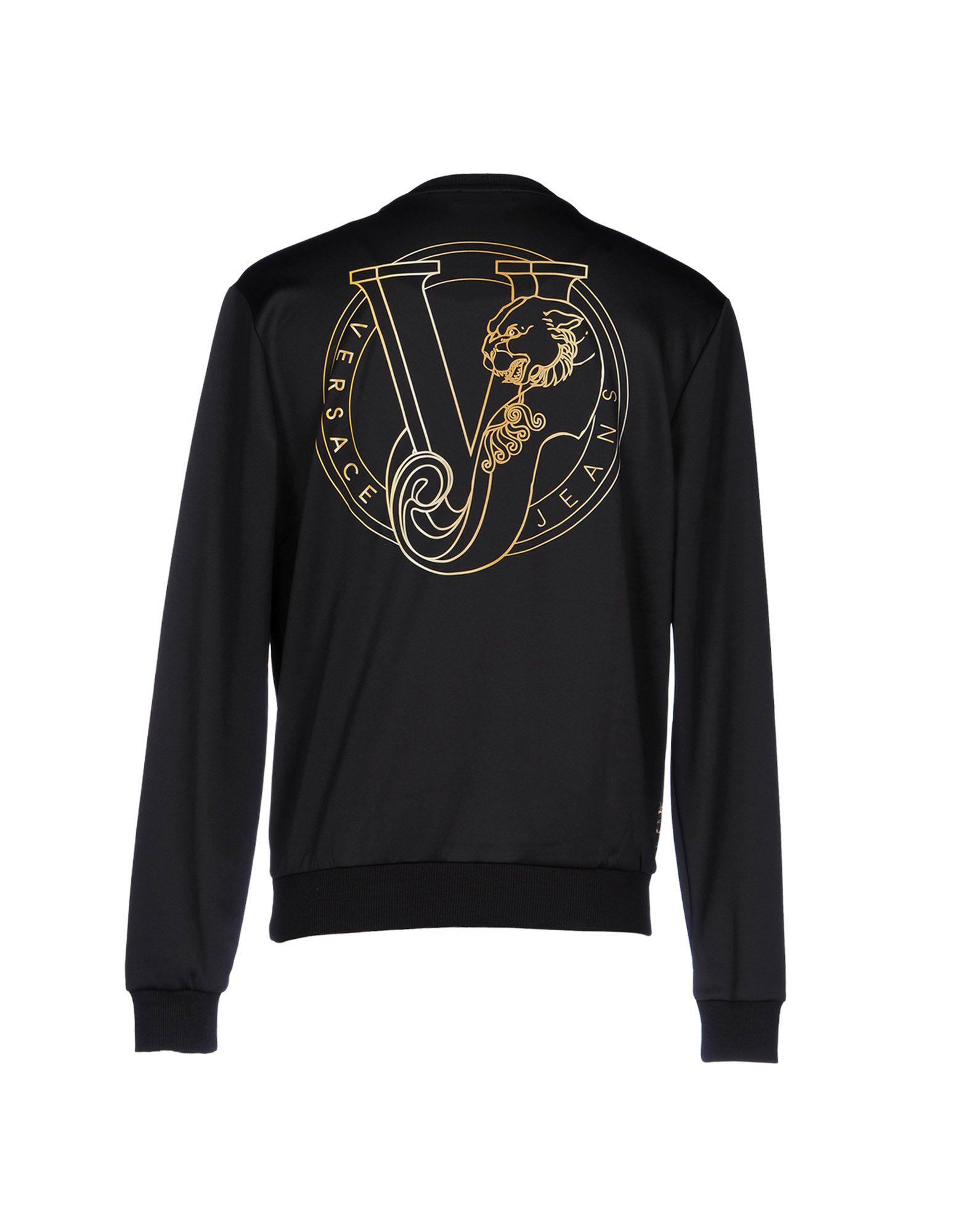 Versace Jeans Couture Cotton Sweatshirt in Black for Men