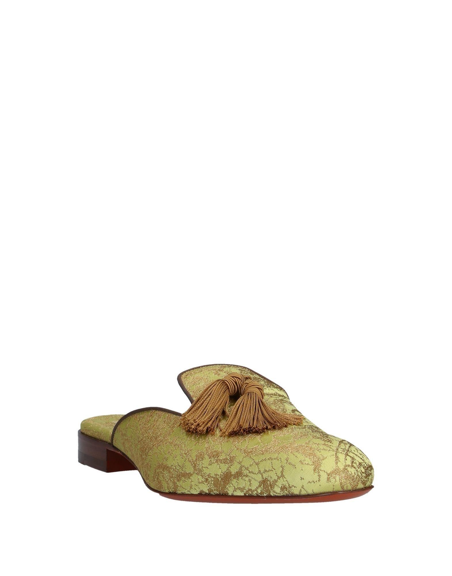 Mules & Zuecos Santoni de color Amarillo