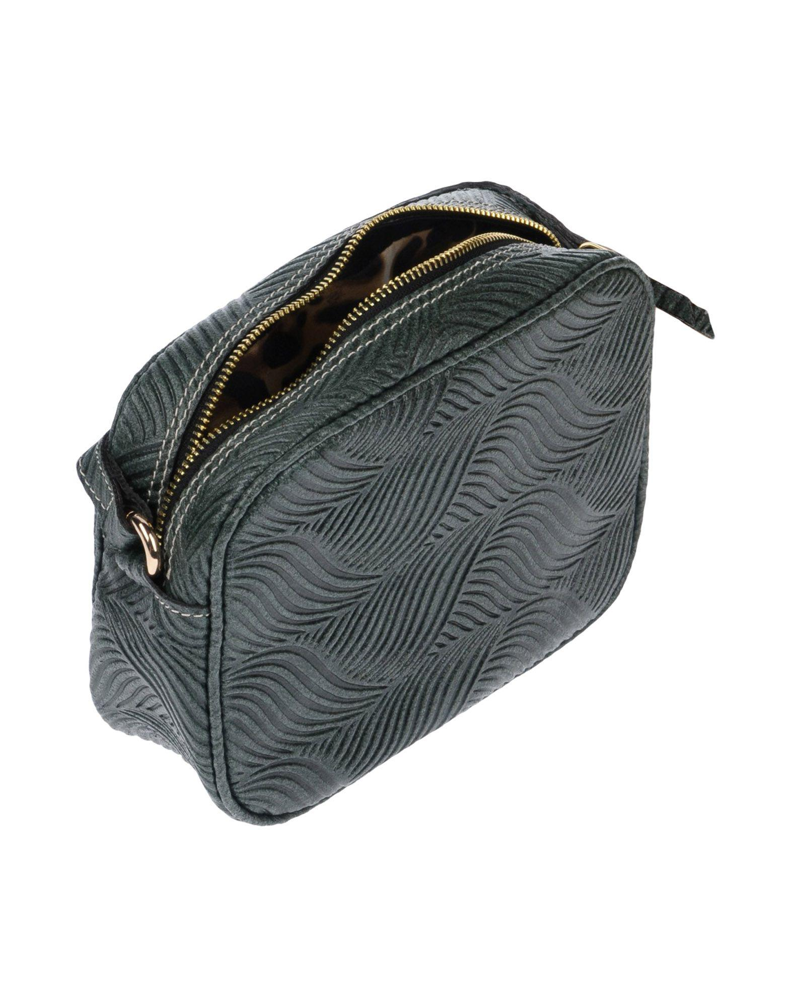 Manifatture Campane Leather Cross-body Bag in Dark Green (Green)