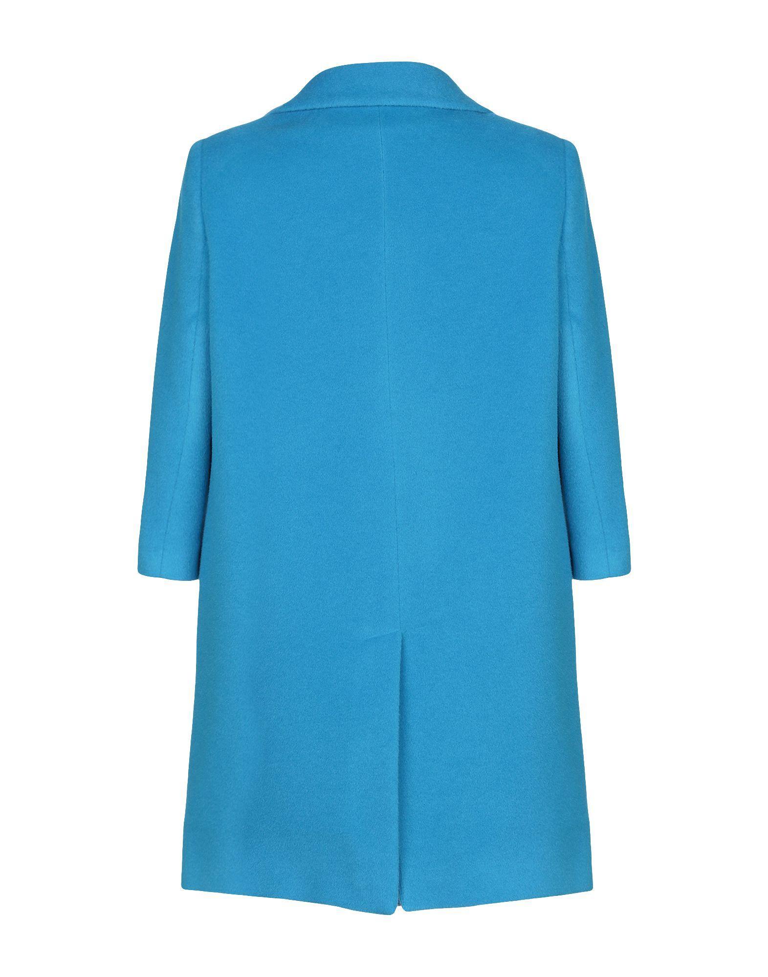 Manteau long Laines Annie P en coloris Bleu V4FqH