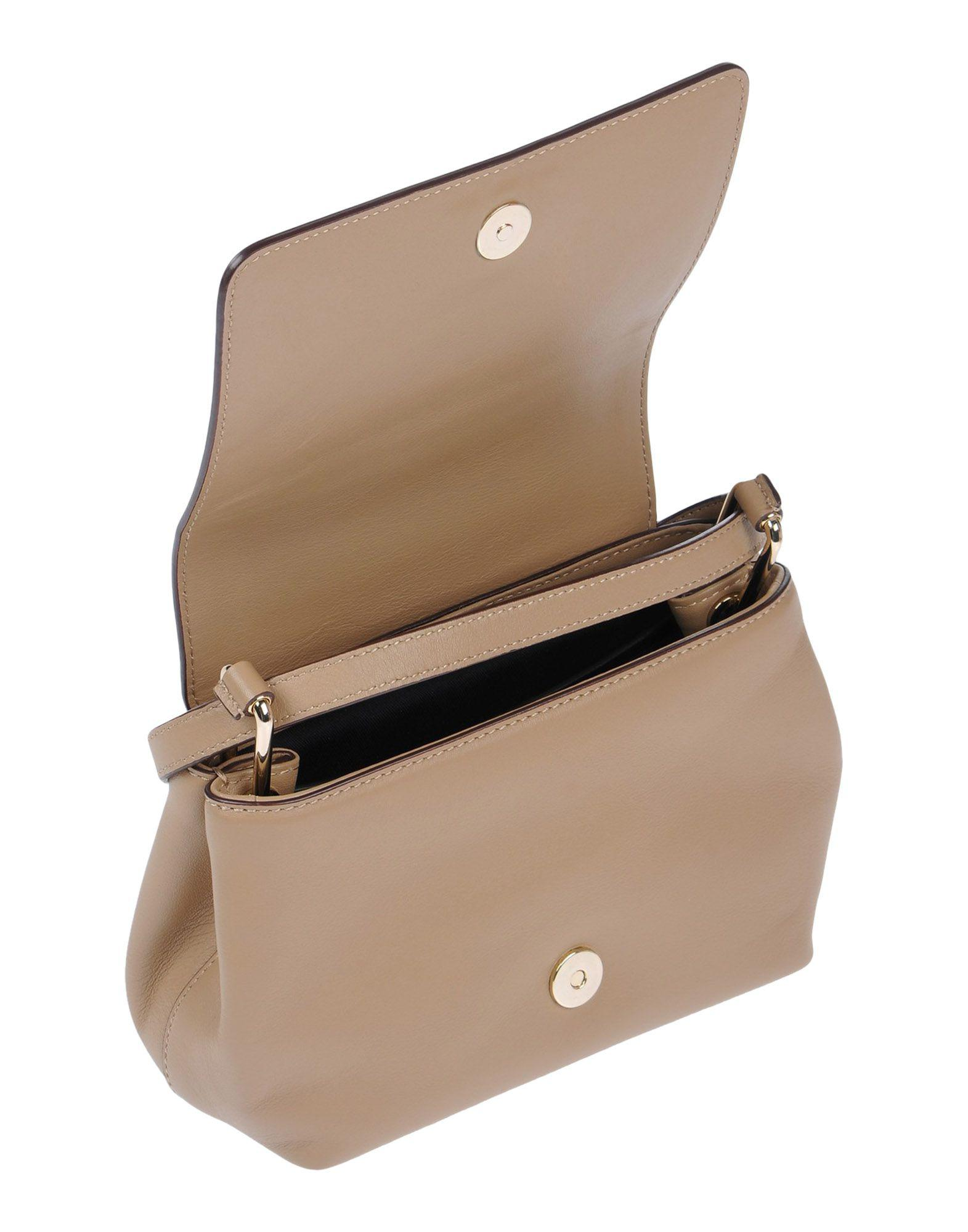 DKNY Leather Cross-body Bag in Khaki (Natural)