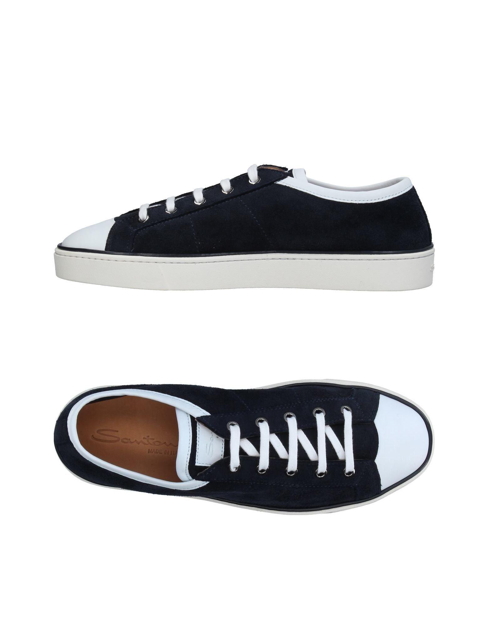 santoni low tops sneakers in black lyst. Black Bedroom Furniture Sets. Home Design Ideas