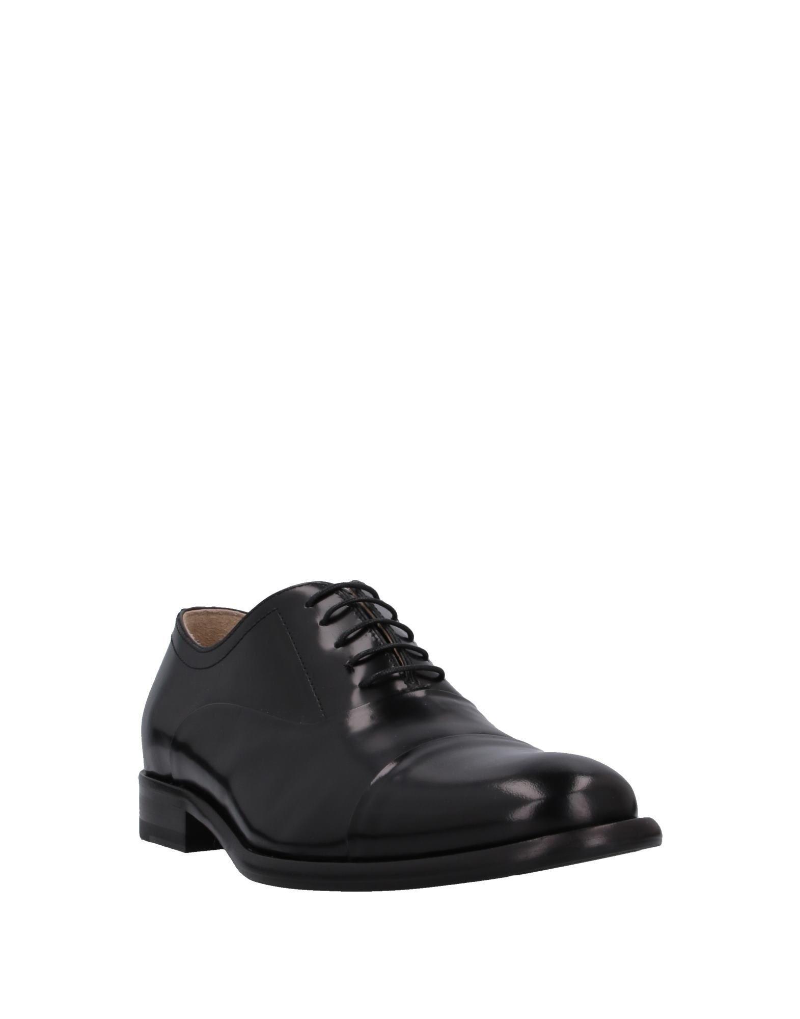 Zapatos de cordones Gianfranco Lattanzi de Cuero de color Negro para hombre