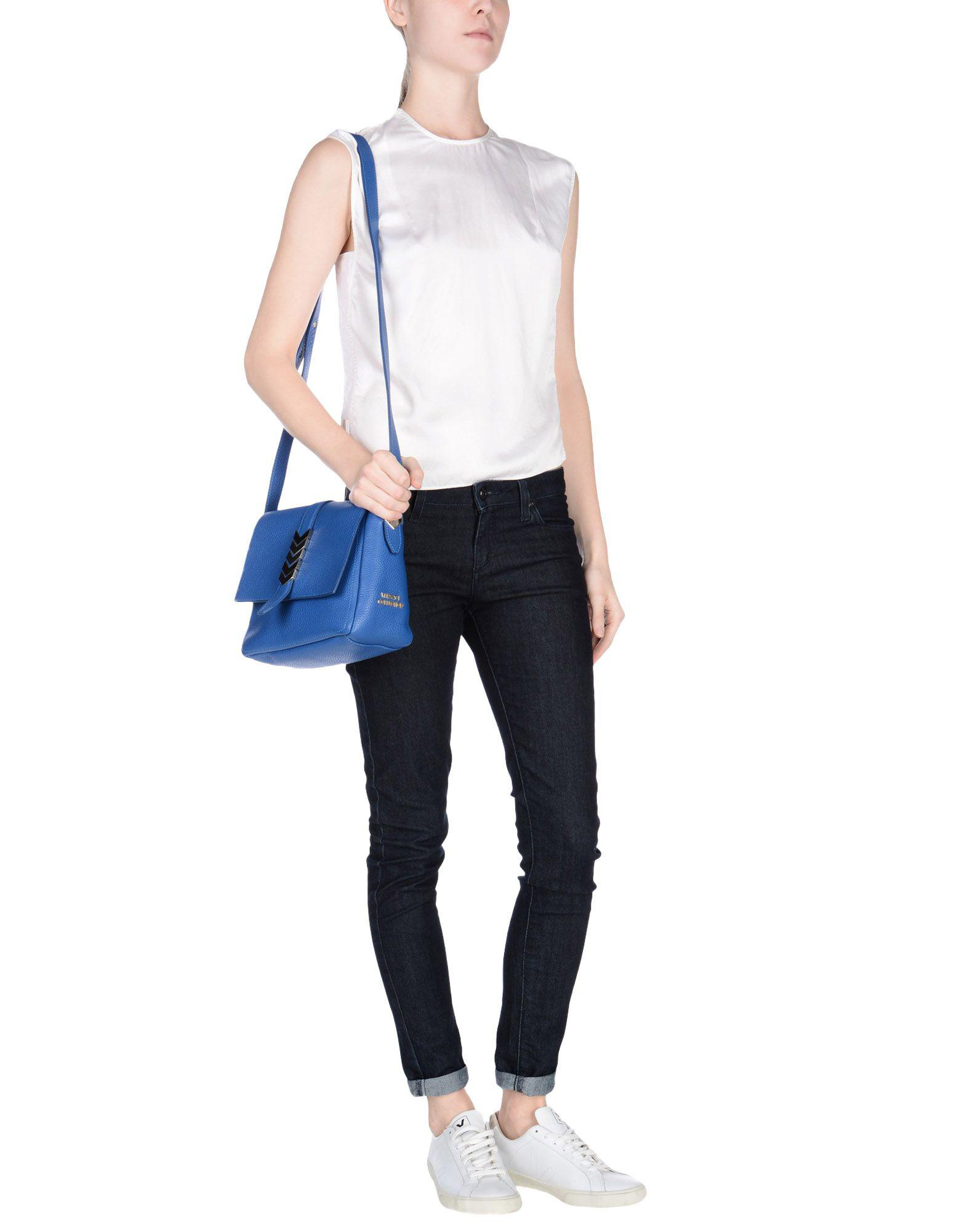Versace Leather Cross-body Bag in Blue
