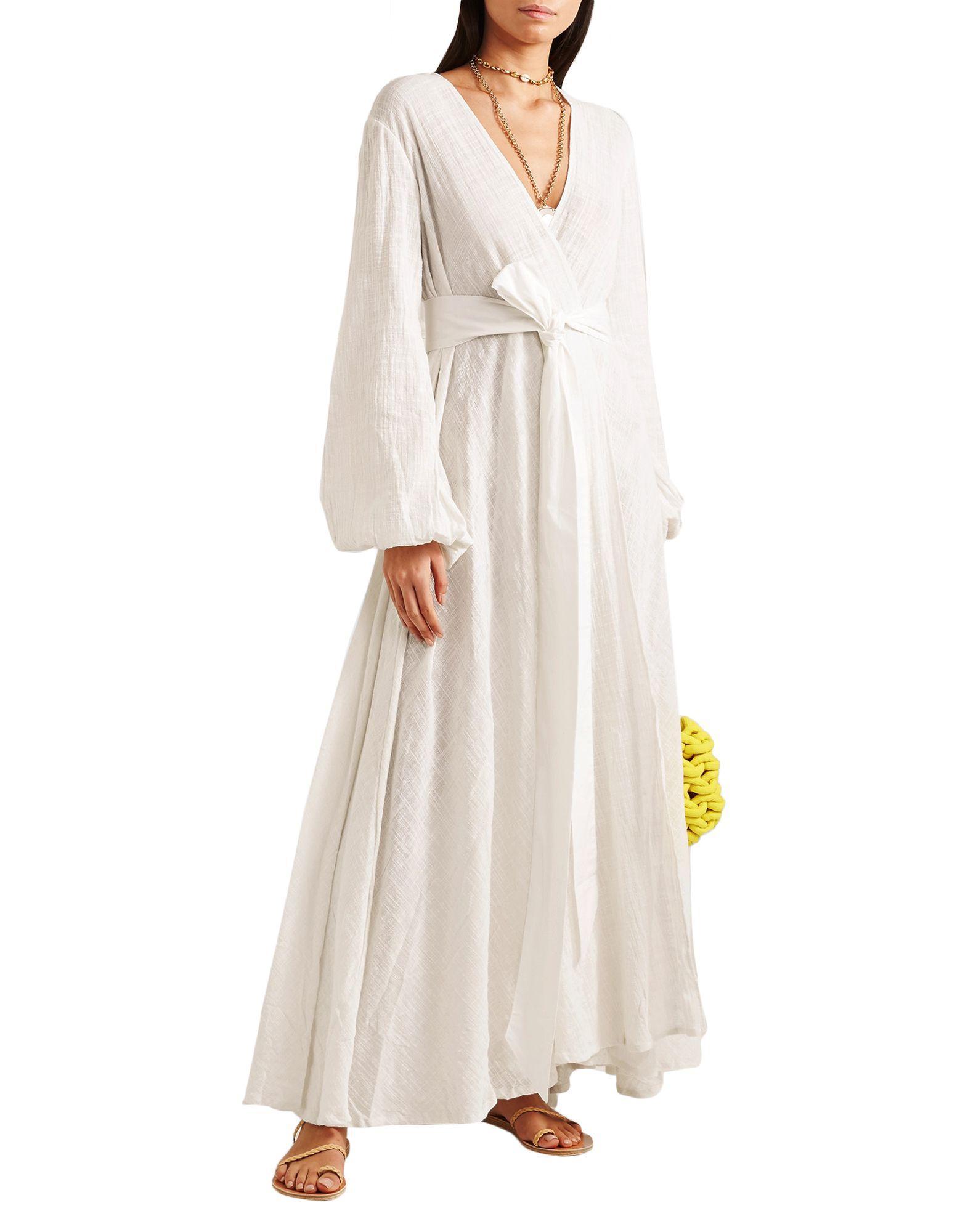 Vestido largo Kalita de Algodón de color Blanco