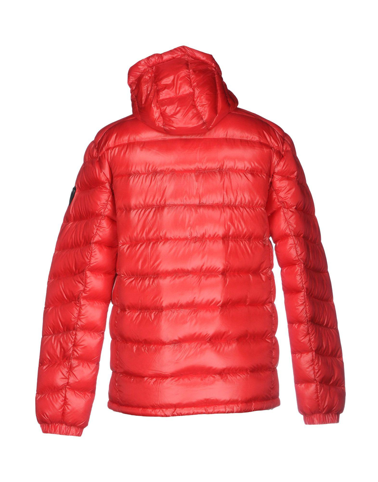 EA7 Synthetic Down Jacket in Red for Men