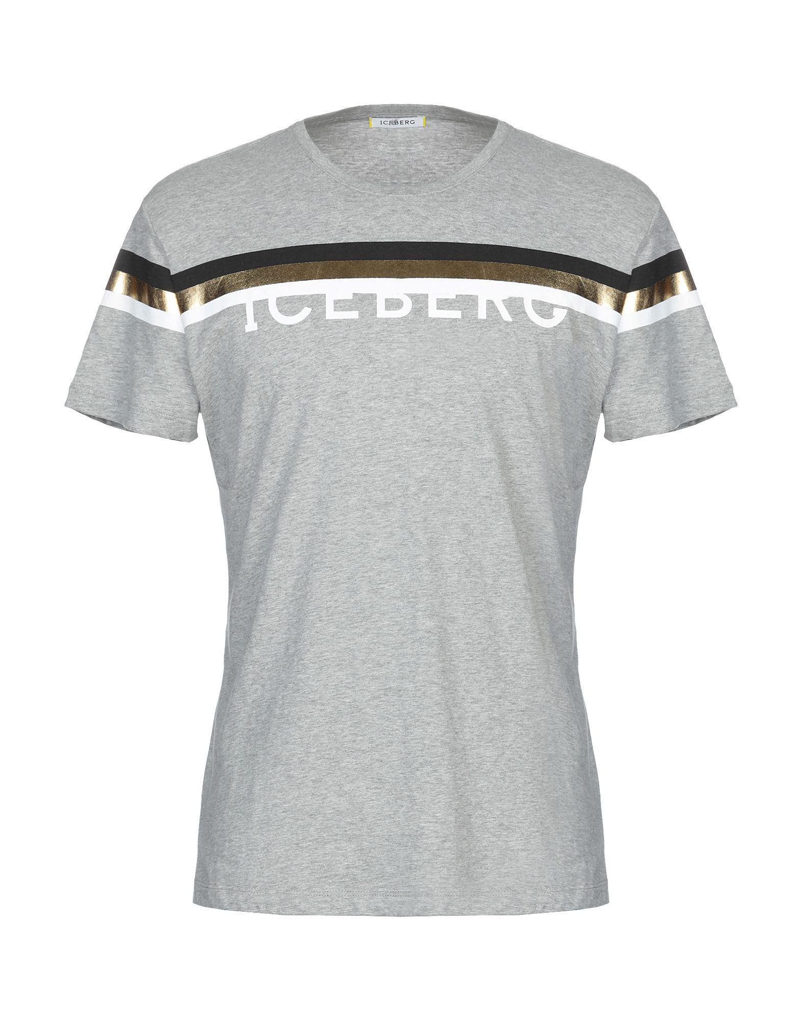 93794b7013b Iceberg - Gray T-shirt for Men - Lyst. View fullscreen