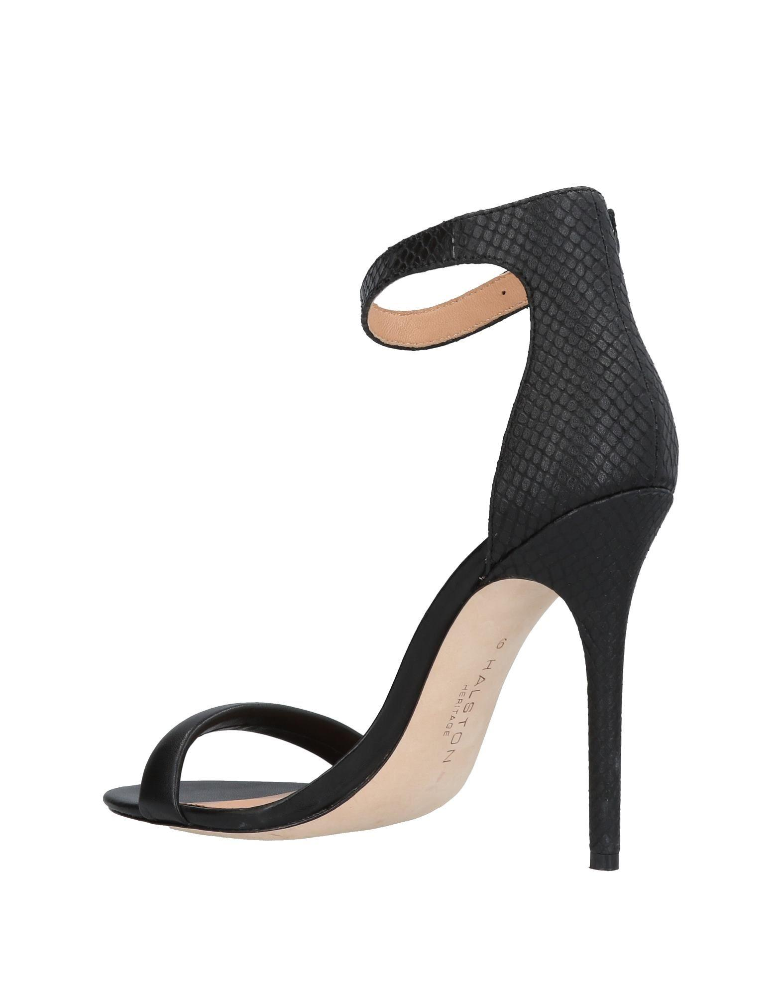 68b3b5b41da Lyst - Halston Heritage Sandals in Black