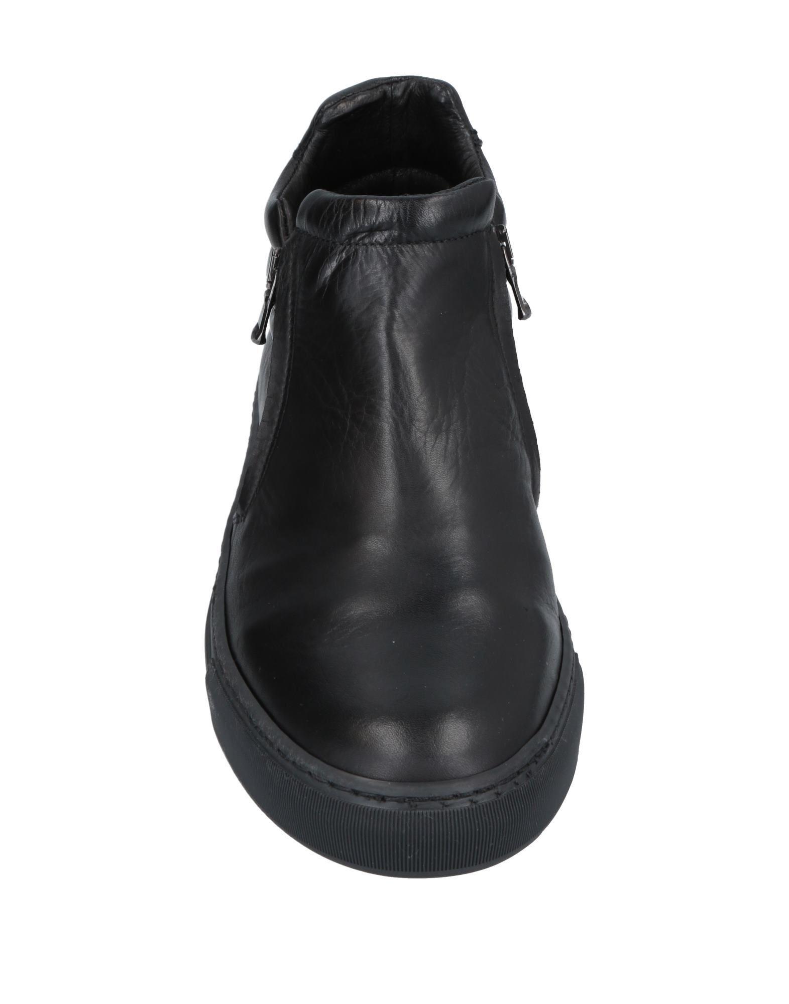 Sneakers abotinadas CafeNoir de Cuero de color Negro para hombre
